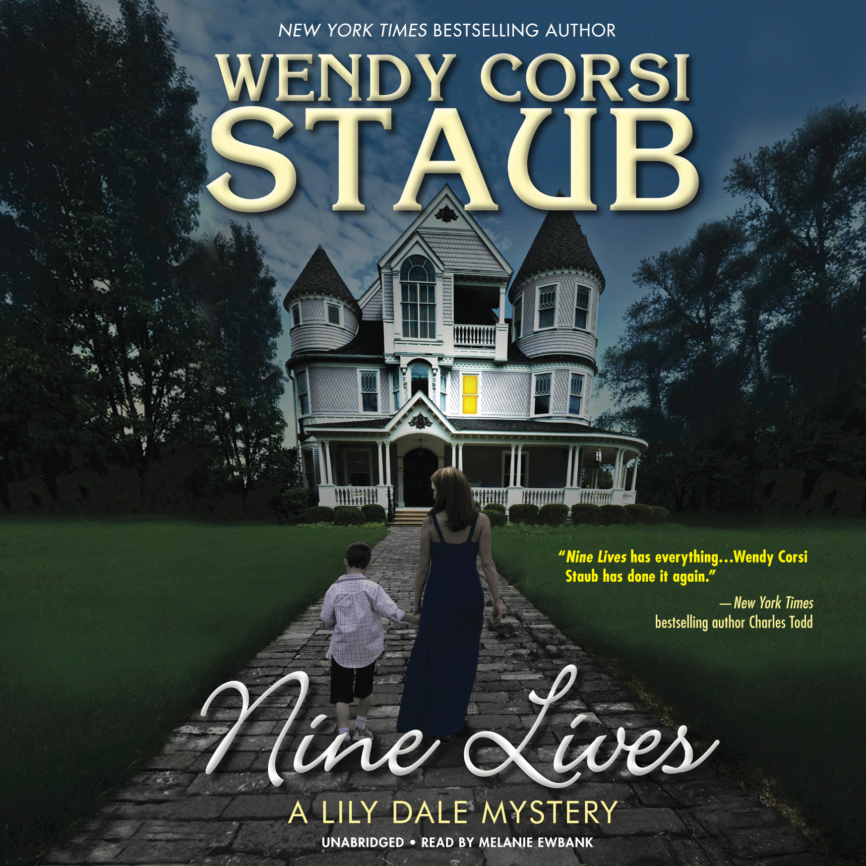 Printable Nine Lives: A Lily Dale Mystery Audiobook Cover Art