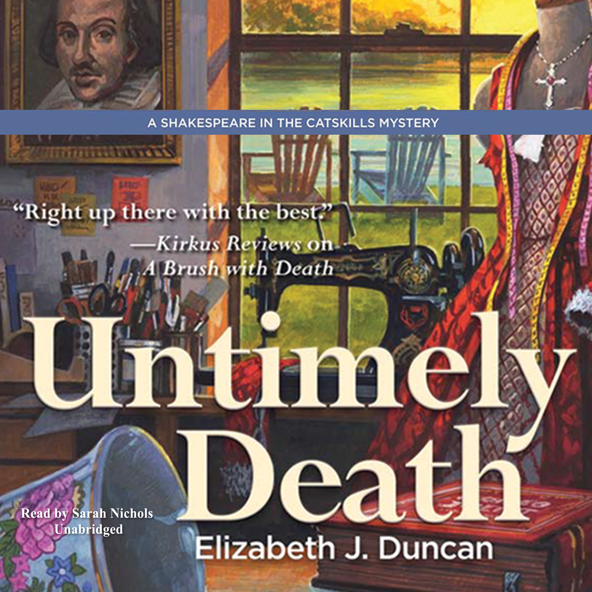 Printable Untimely Death: A Shakespeare in the Catskills Mystery Audiobook Cover Art