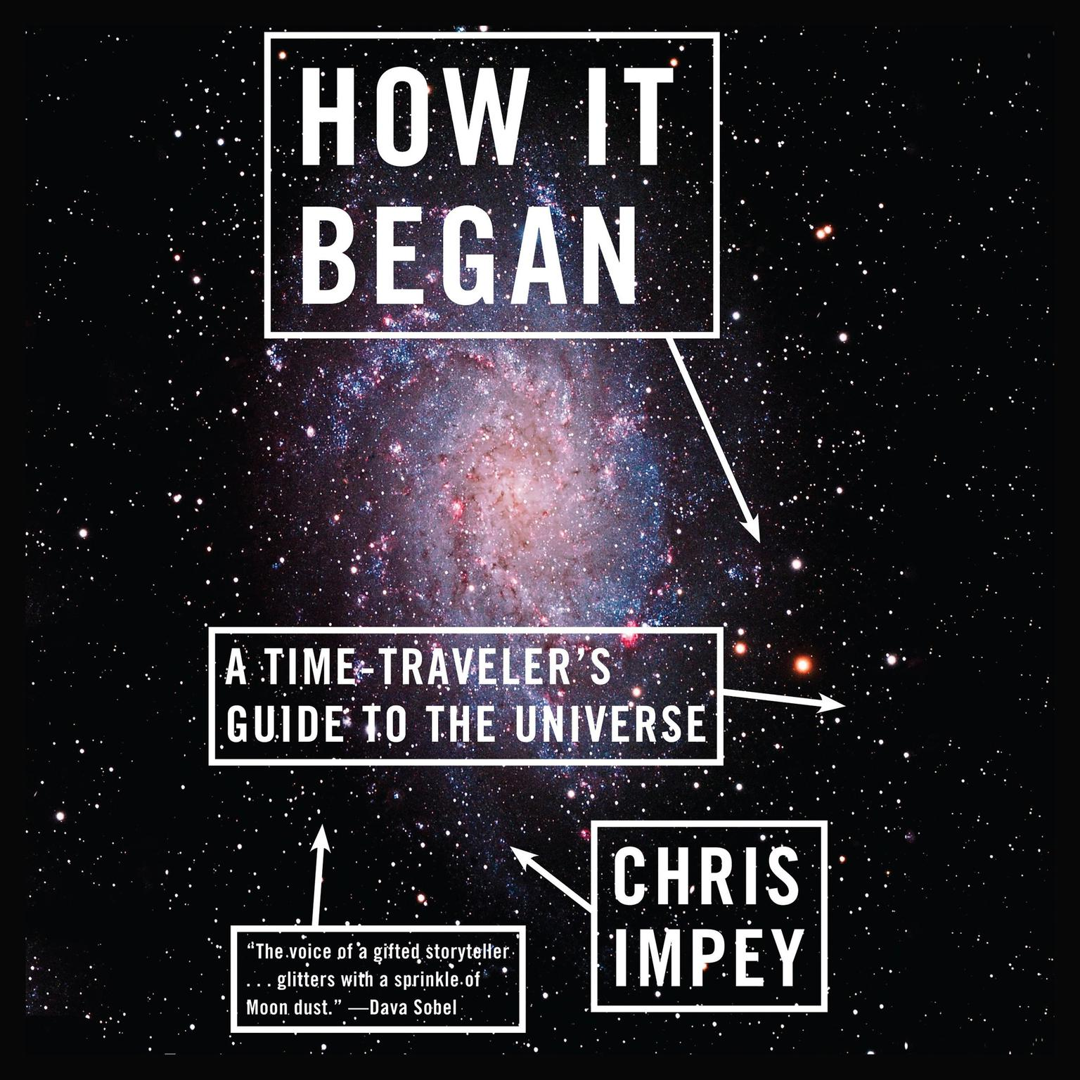 Printable How It Began: A Time-Traveler's Guide to the Universe Audiobook Cover Art
