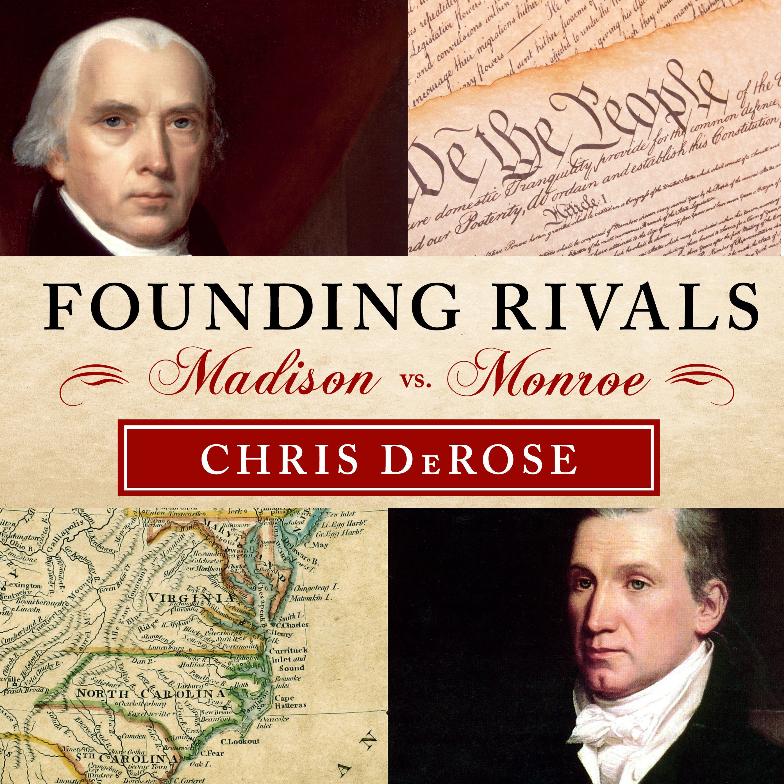Printable Founding Rivals: Madison vs. Monroe, the Bill of Rights, and the Election That Saved a Nation Audiobook Cover Art