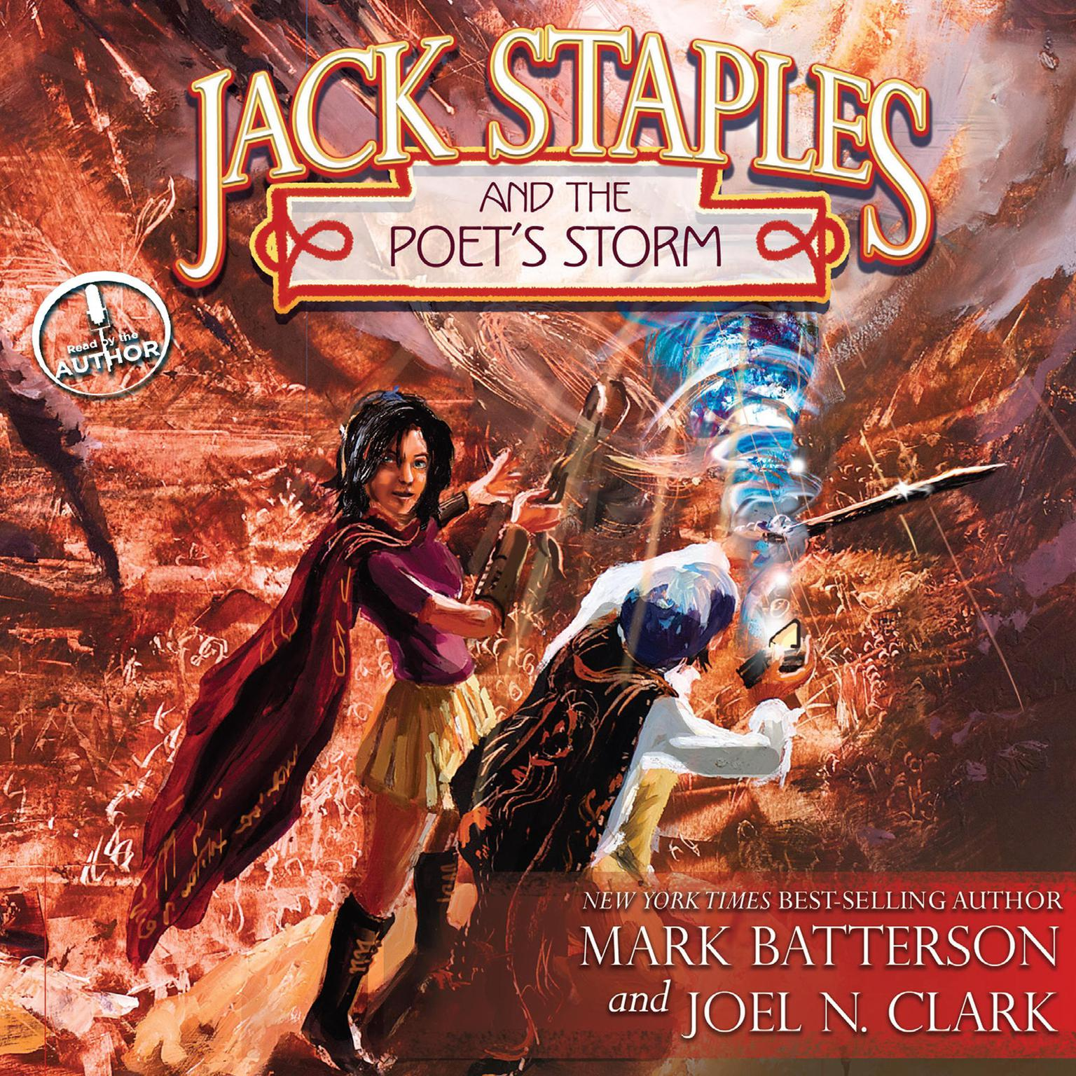 Printable Jack Staples and the Poet's Storm Audiobook Cover Art