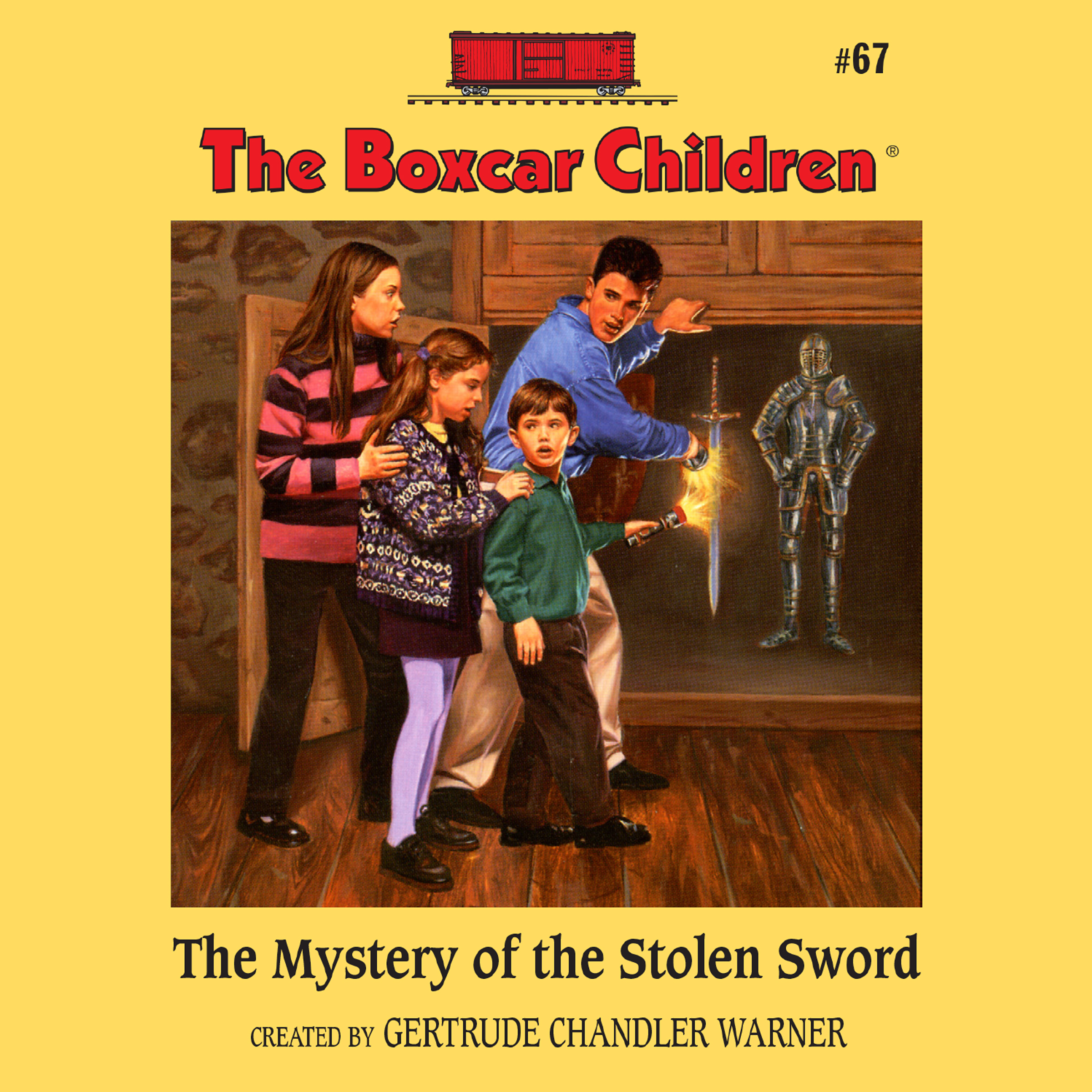 Printable The Mystery of the Stolen Sword Audiobook Cover Art