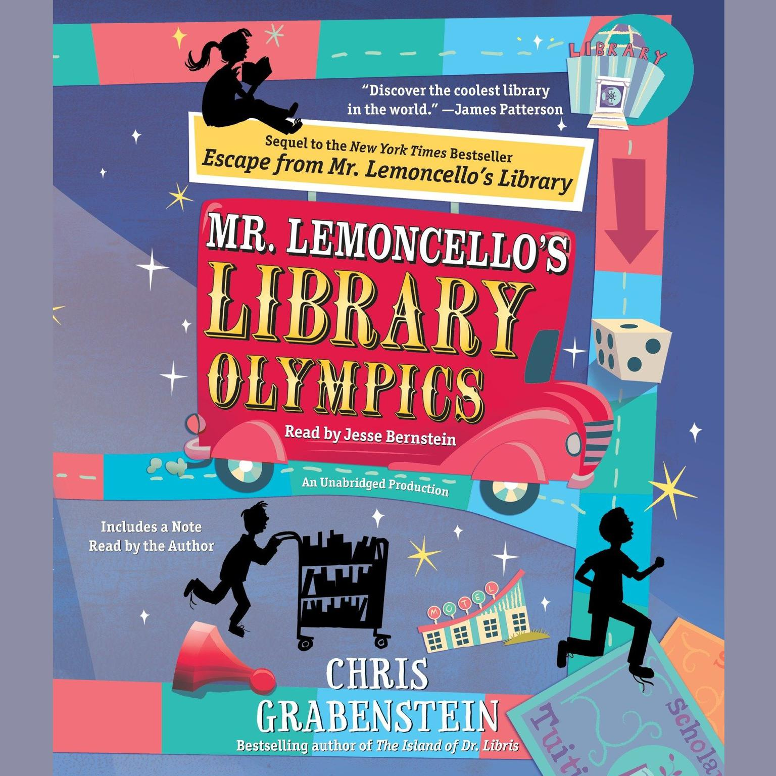 Printable Mr. Lemoncello's Library Olympics Audiobook Cover Art