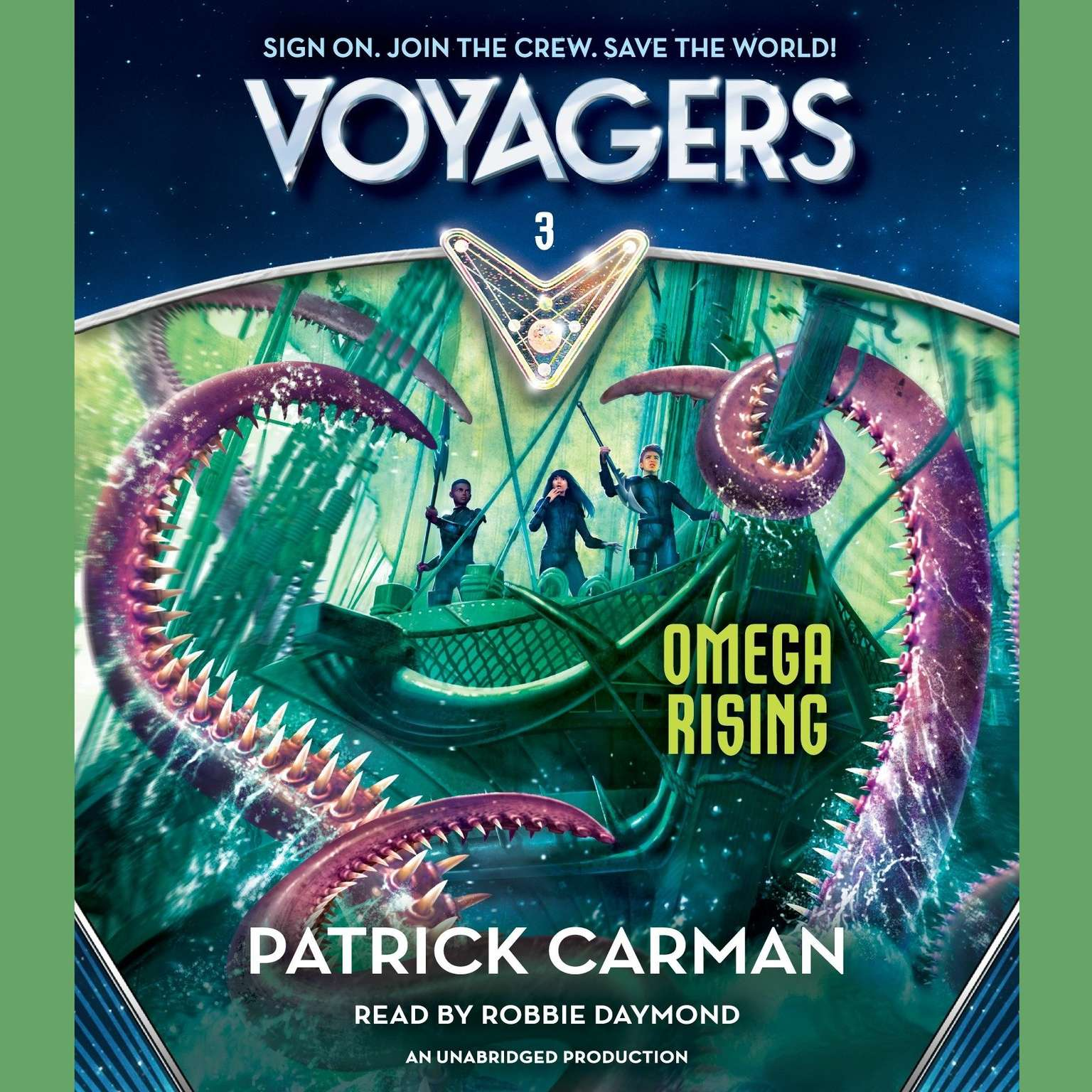 Printable Voyagers: Omega Rising (Book 3) Audiobook Cover Art