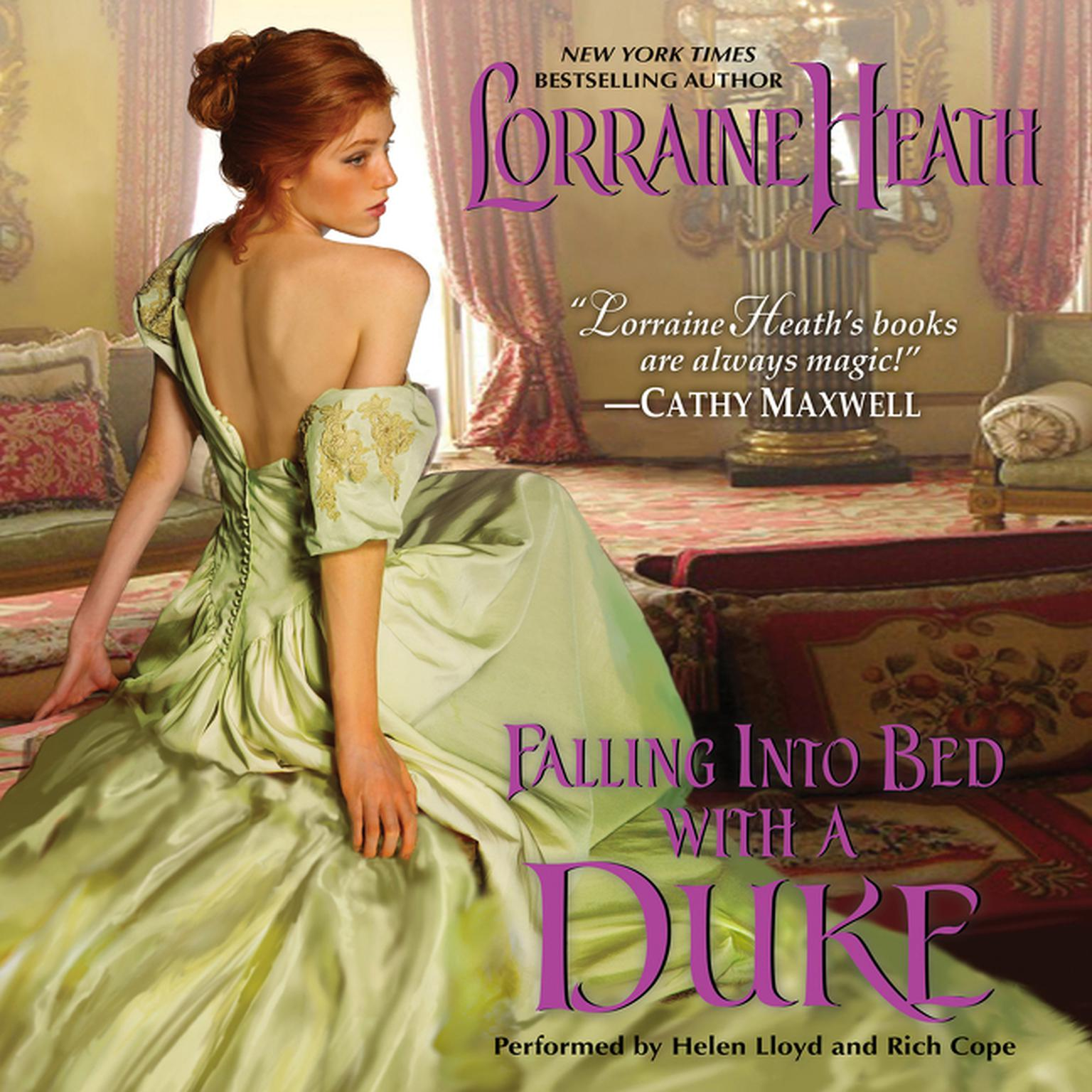 Printable Falling into Bed with a Duke Audiobook Cover Art