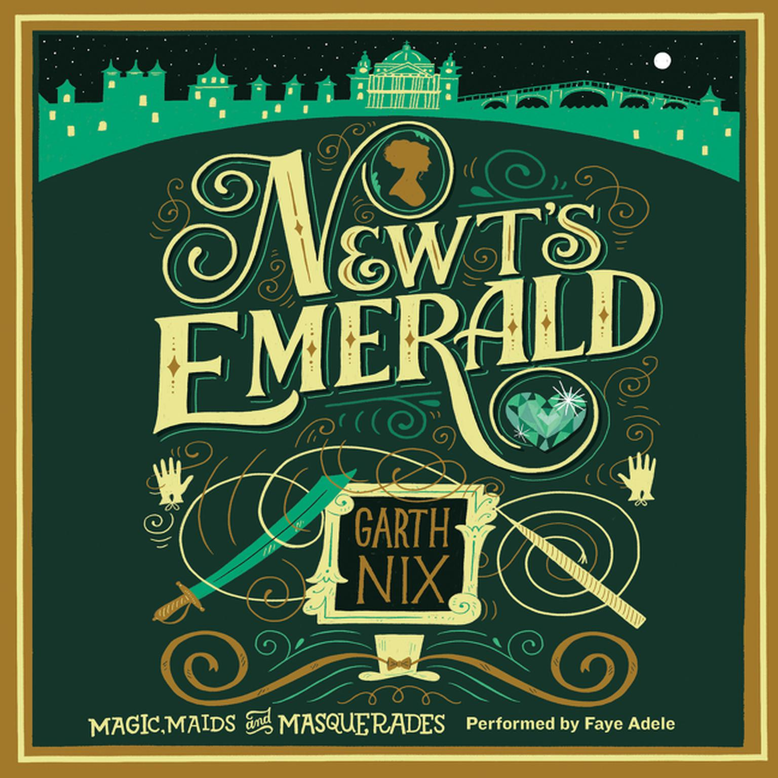 Printable Newt's Emerald: Magic, Maids, and Masquerades Audiobook Cover Art