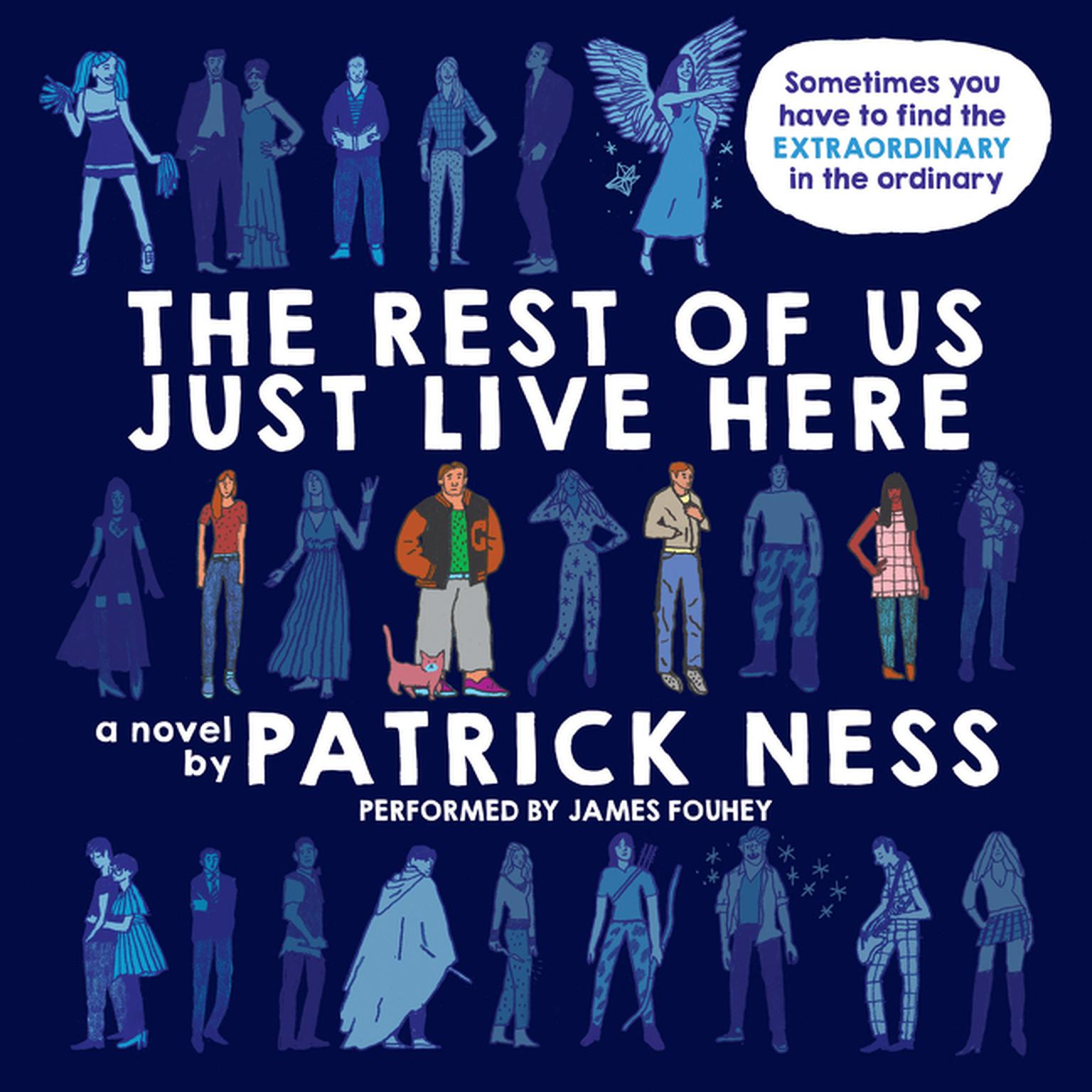 Printable The Rest of Us Just Live Here Audiobook Cover Art