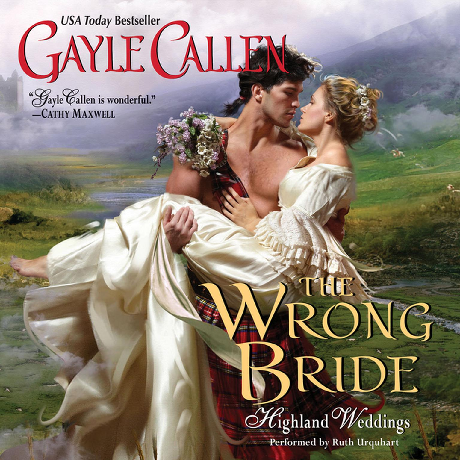 Printable The Wrong Bride: Highland Weddings Audiobook Cover Art