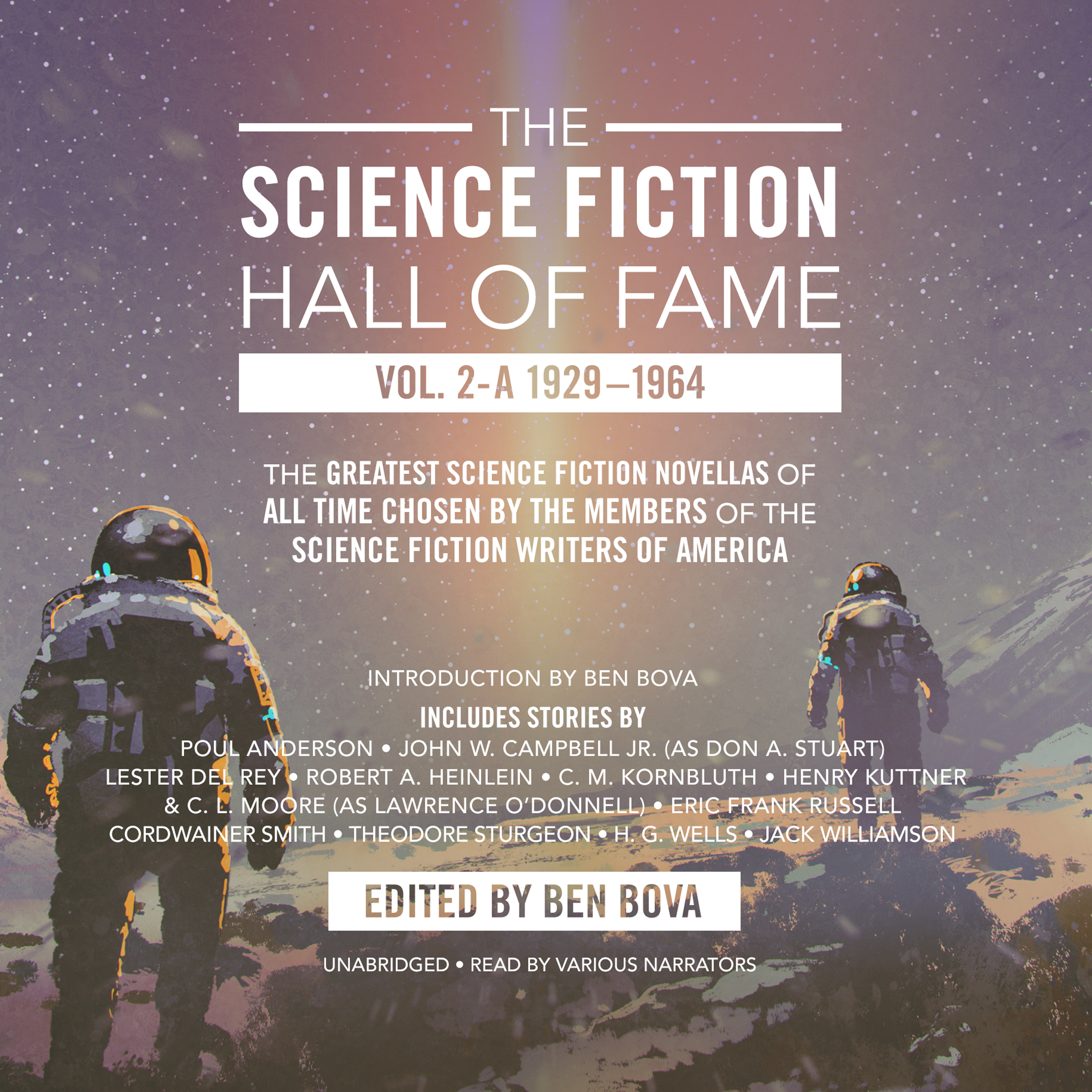 Printable The Science Fiction Hall of Fame, Vol. 2-A: The Greatest Science Fiction Novellas of All Time Chosen by the Members of The Science Fiction Writers of America Audiobook Cover Art