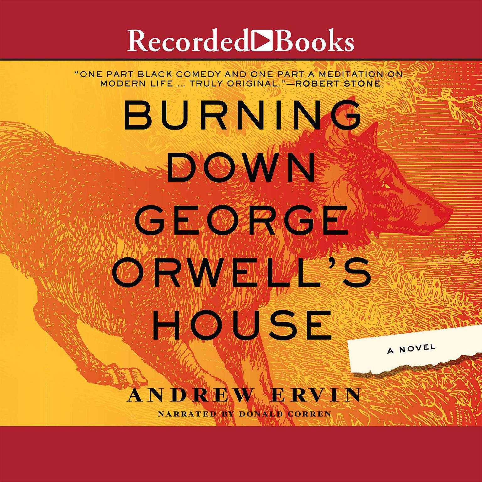 Printable Burning Down George Orwell's House Audiobook Cover Art