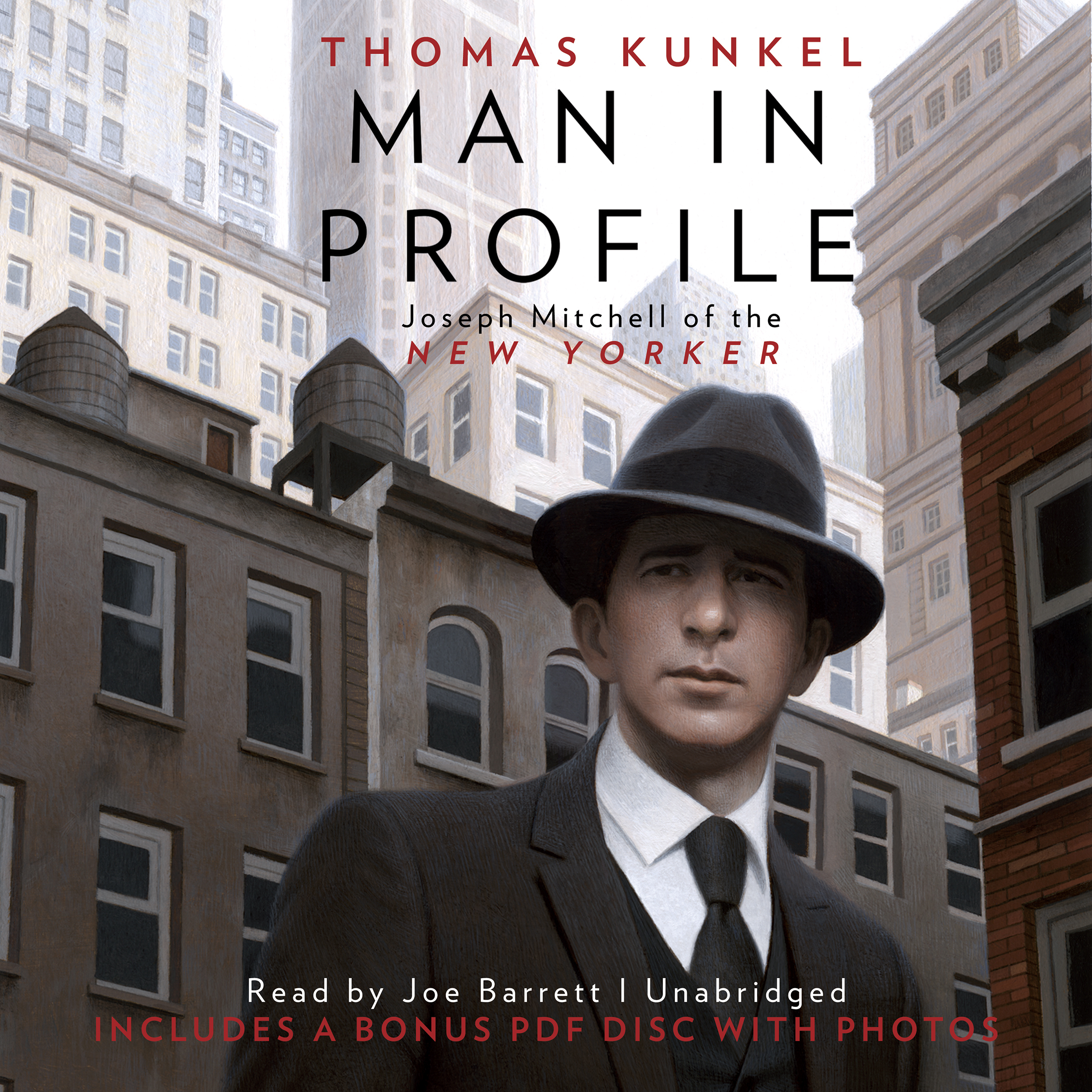 Printable Man in Profile: Joseph Mitchell of the New Yorker Audiobook Cover Art