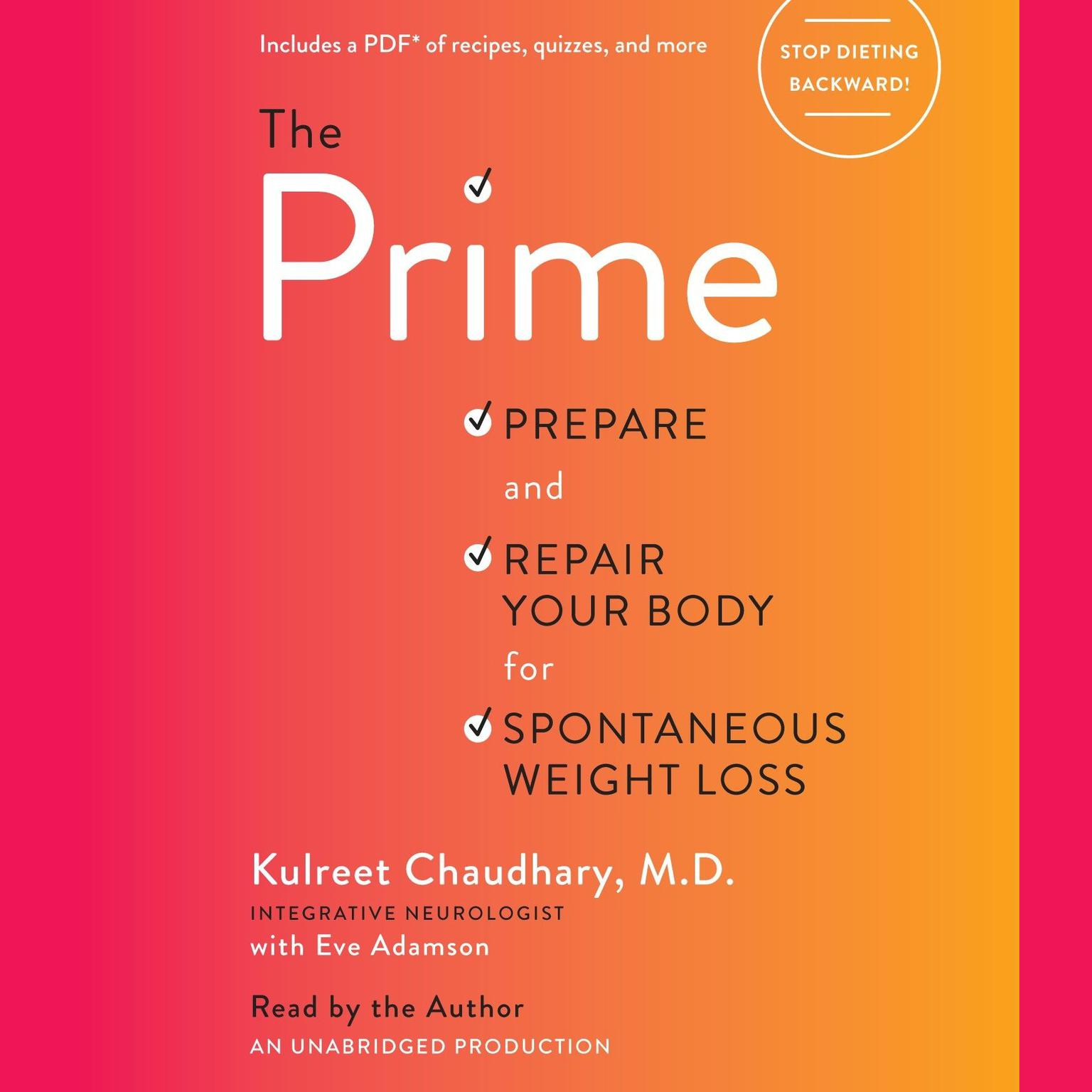 Printable The Prime: Prepare and Repair Your Body for Spontaneous Weight Loss Audiobook Cover Art