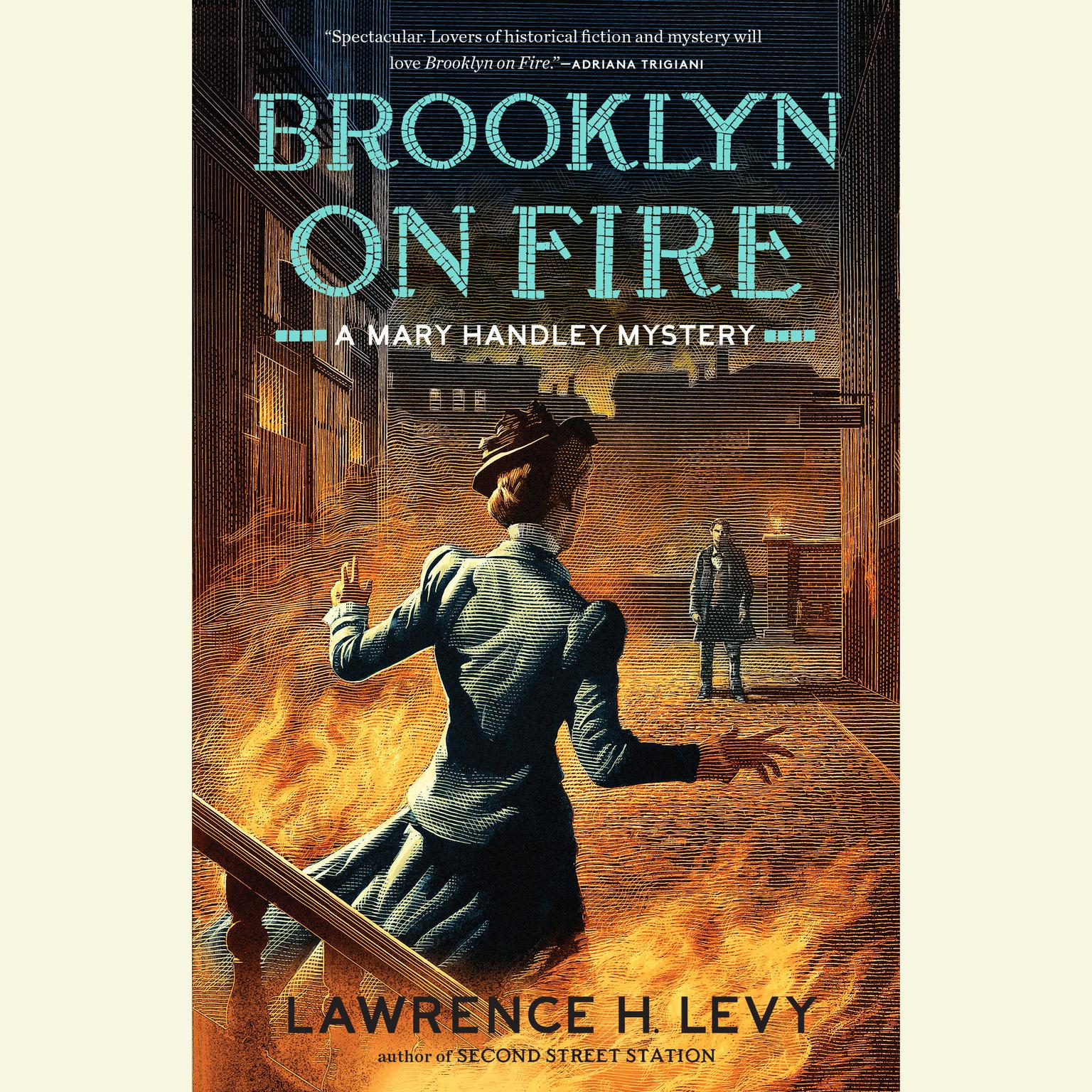 Printable Brooklyn on Fire: A Mary Handley Mystery Audiobook Cover Art