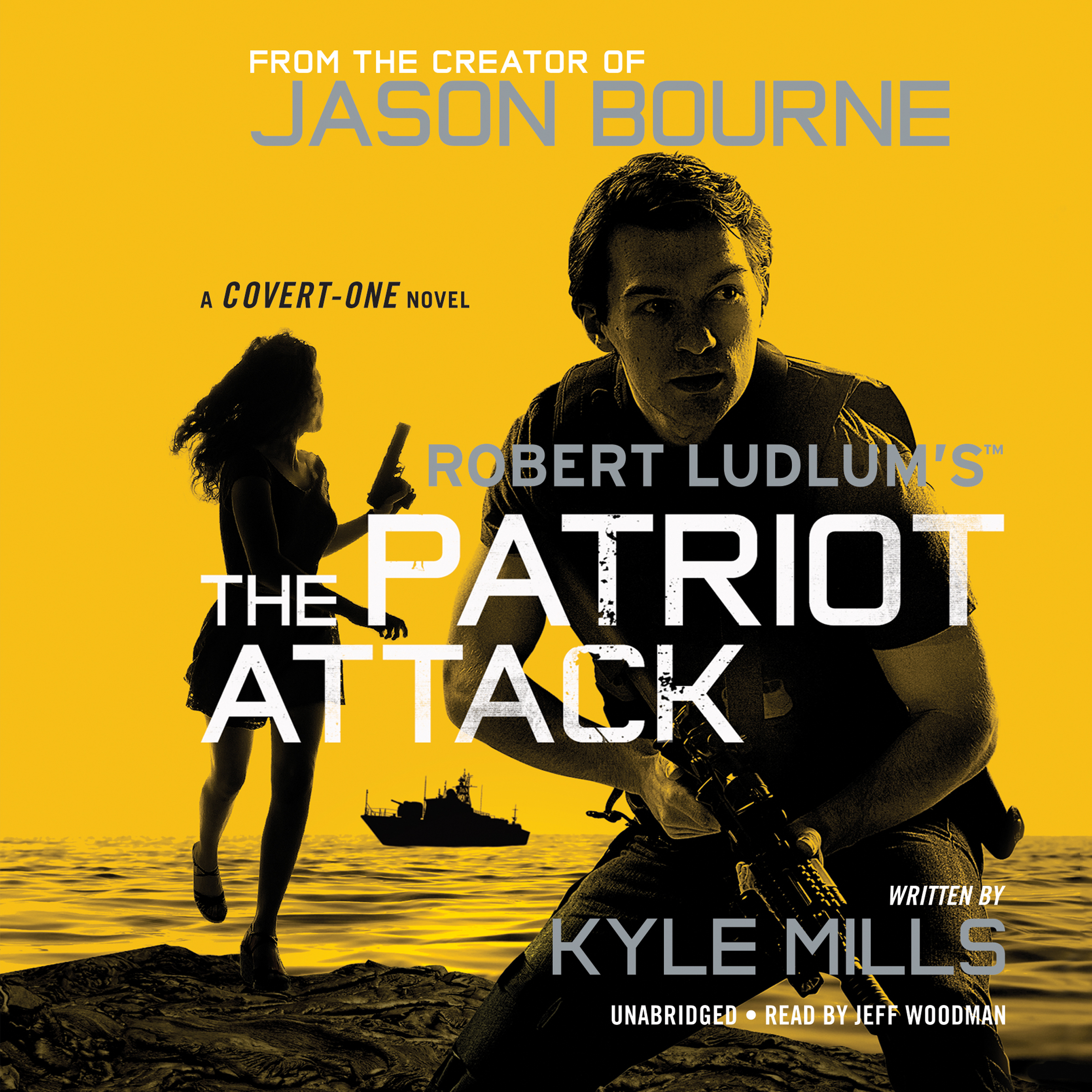 Printable Robert Ludlum's™  The Patriot Attack Audiobook Cover Art