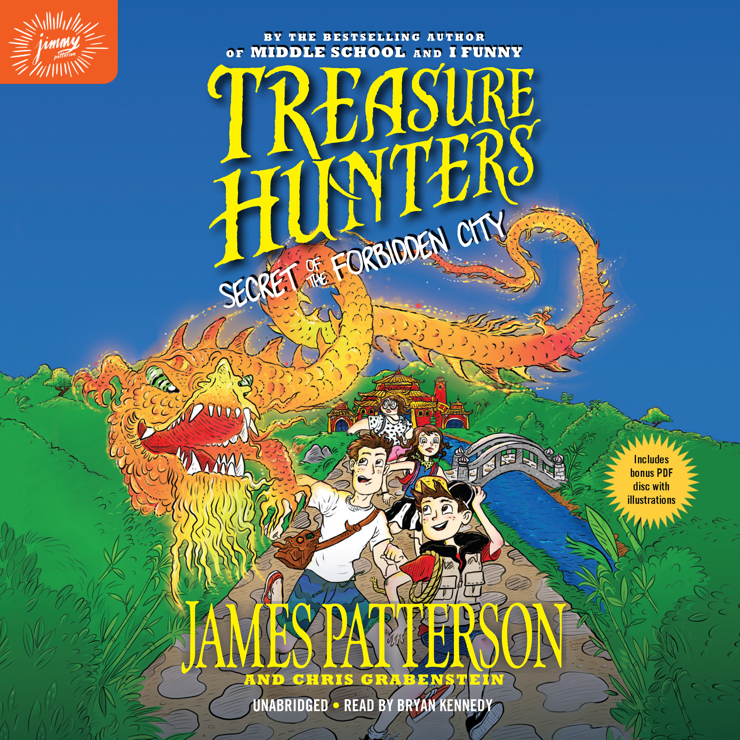 Printable Treasure Hunters: Secret of the Forbidden City Audiobook Cover Art