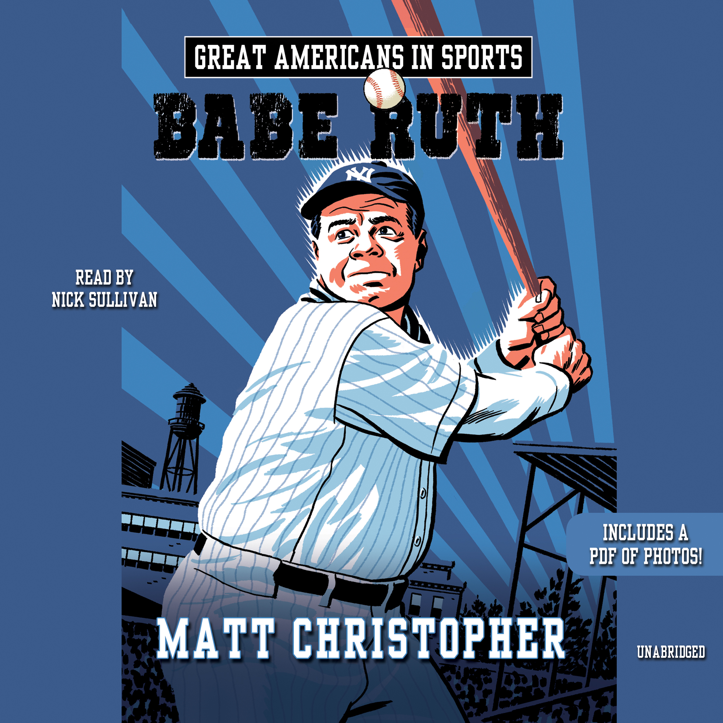 Printable Great Americans in Sports: Babe Ruth Audiobook Cover Art