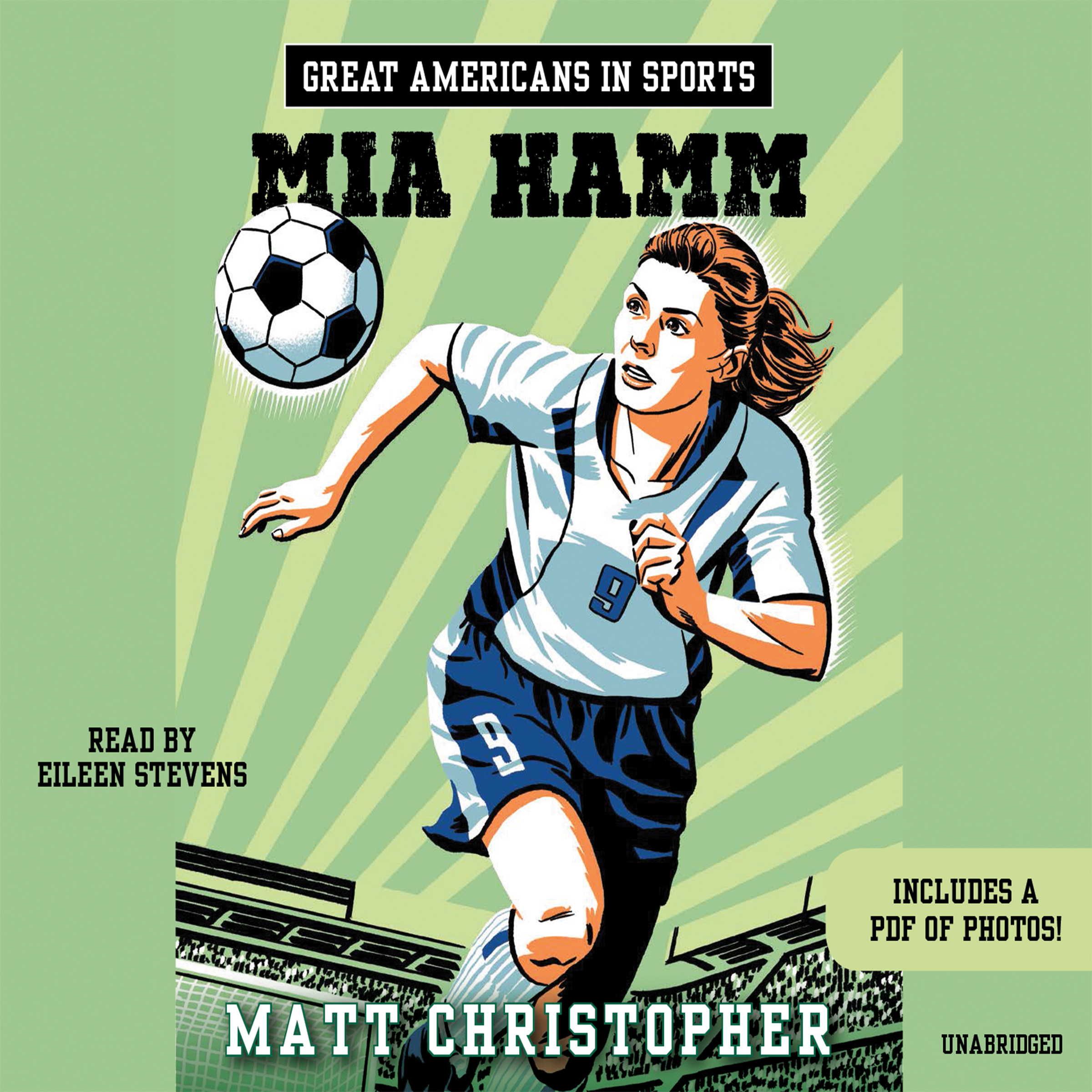 Printable Great Americans in Sports: Mia Hamm Audiobook Cover Art