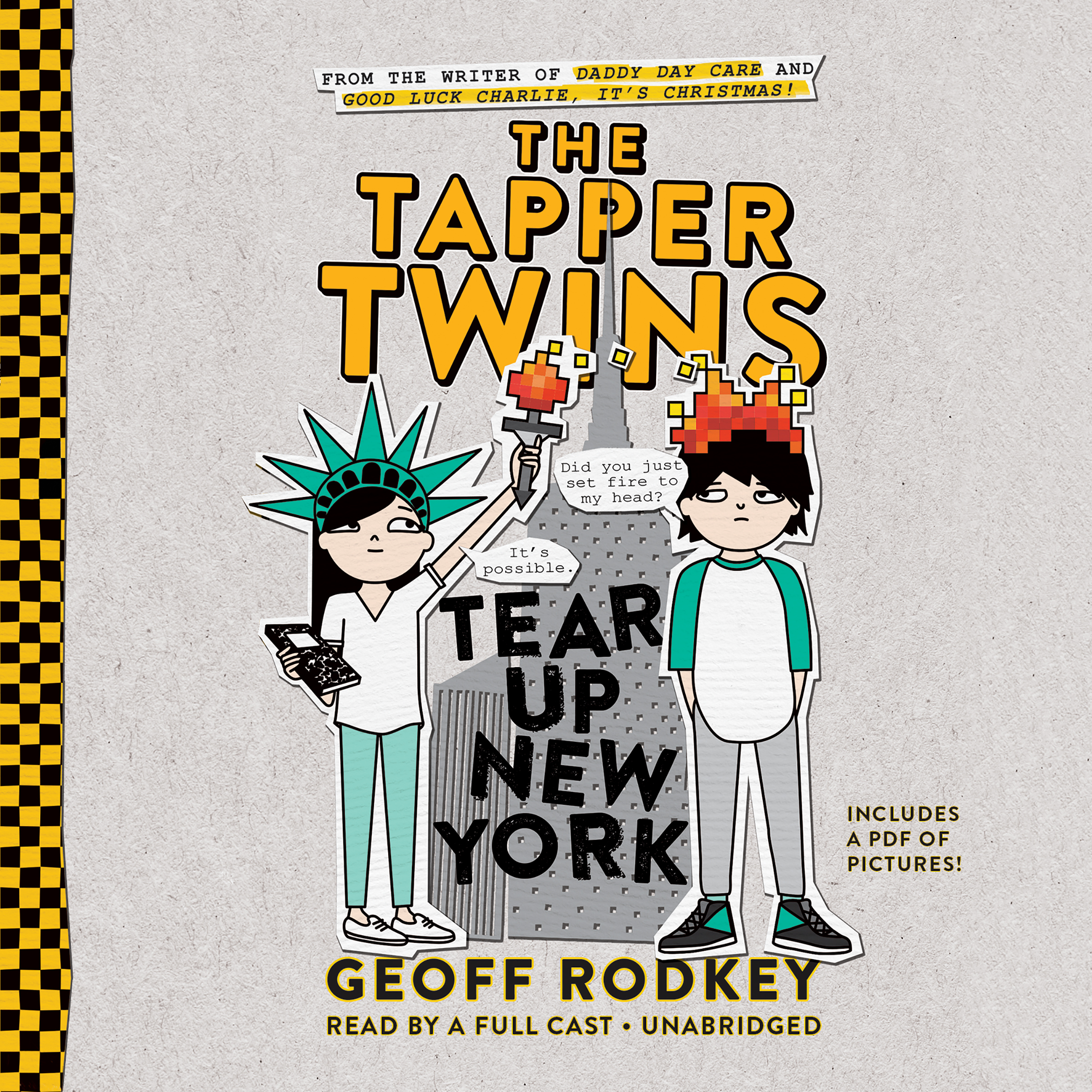 Printable The Tapper Twins Tear Up New York Audiobook Cover Art