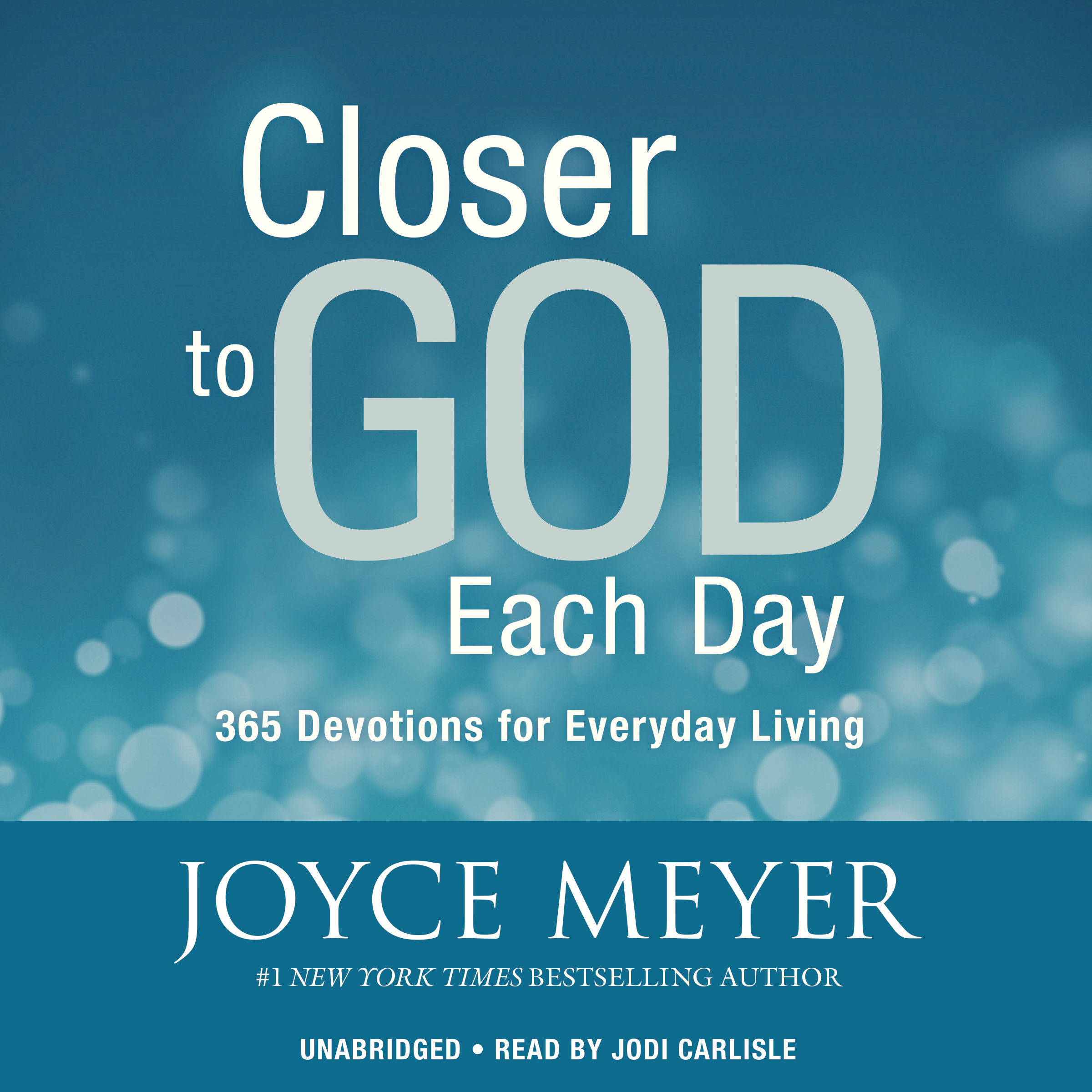 Printable Closer to God Each Day: 365 Devotions for Everyday Living Audiobook Cover Art
