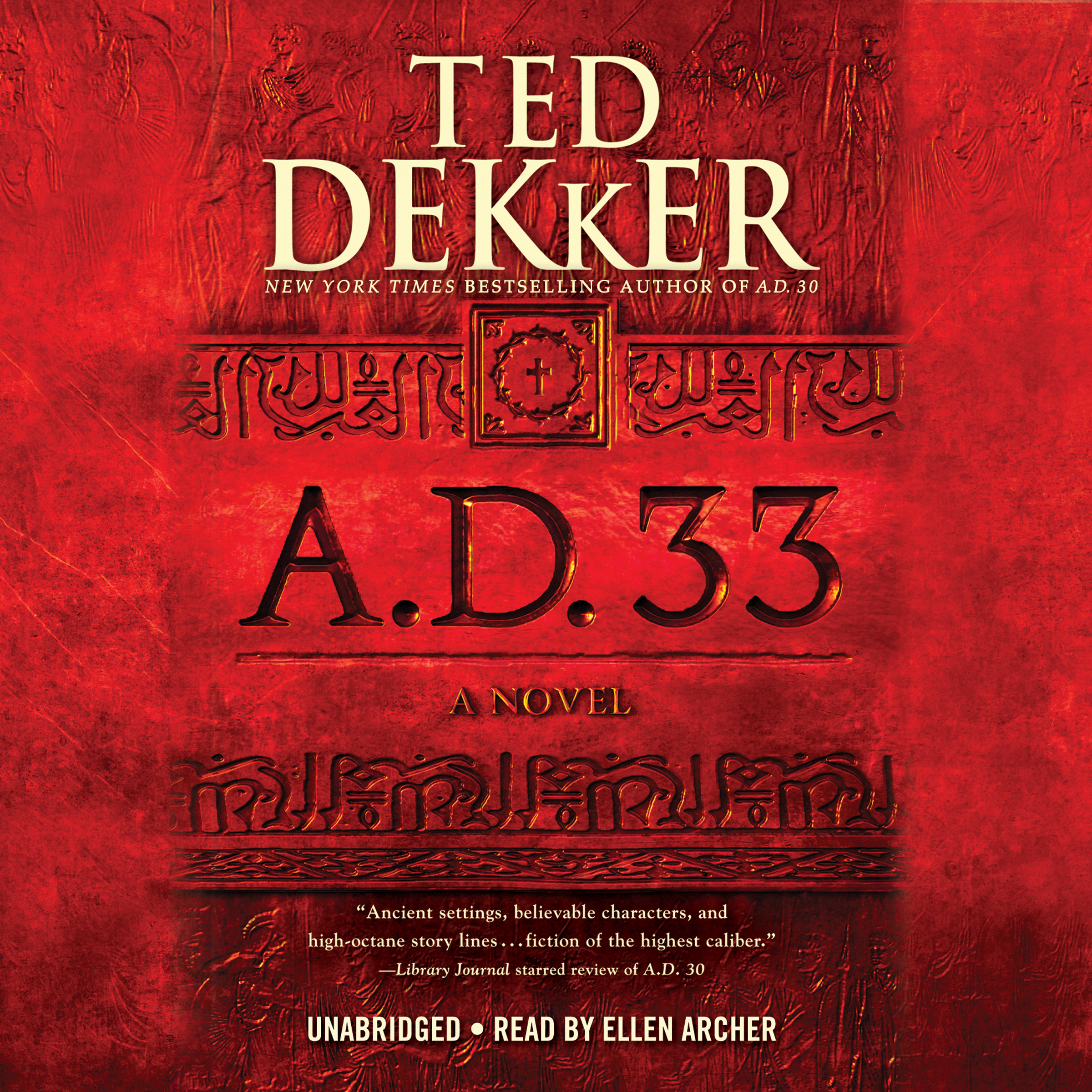 Printable A.D. 33: A Novel Audiobook Cover Art