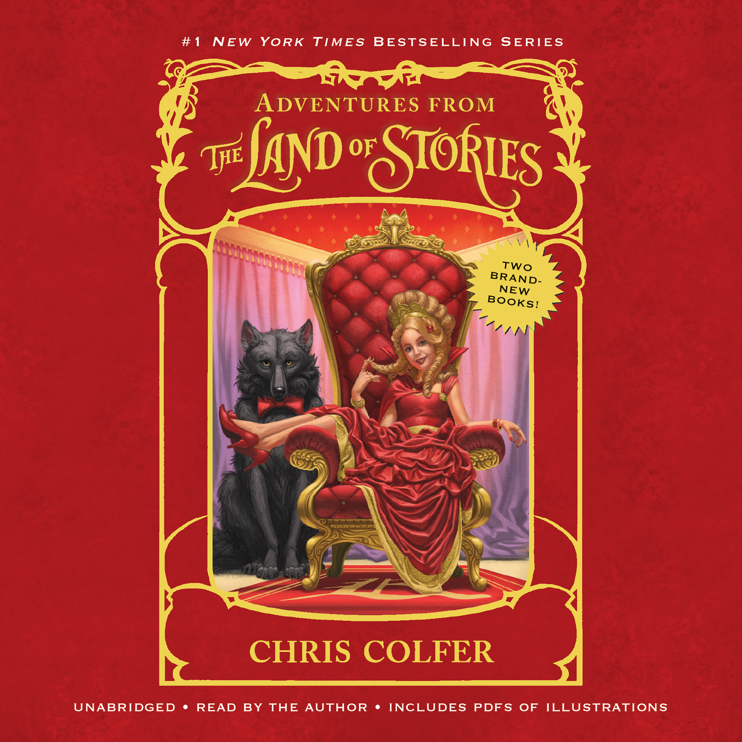 Printable Adventures from the Land of Stories Boxed Set: The Mother Goose Diaries and Queen Red Riding Hood's Guide to Royalty Audiobook Cover Art