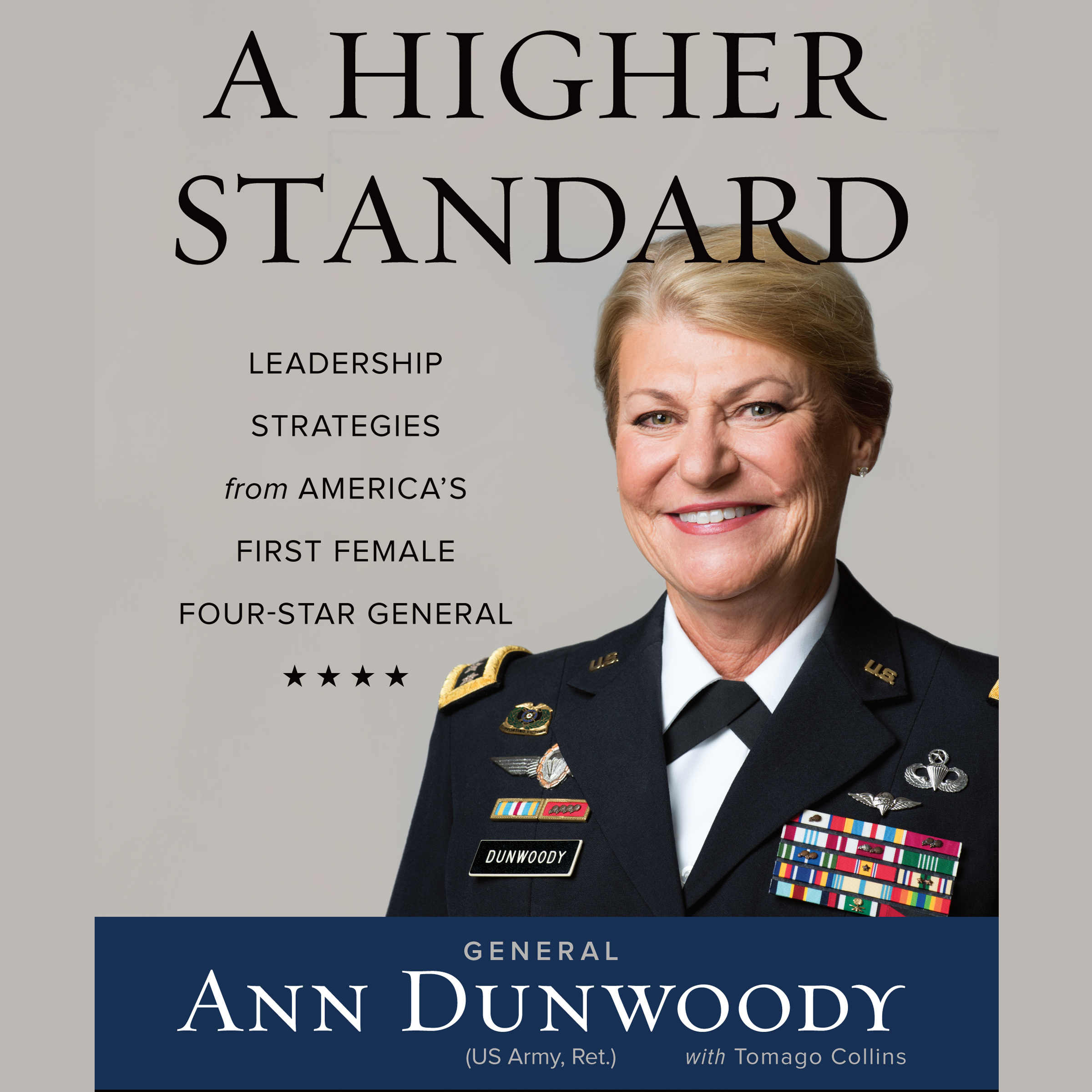 Printable A Higher Standard: Leadership Strategies from America's First Female Four-Star General Audiobook Cover Art