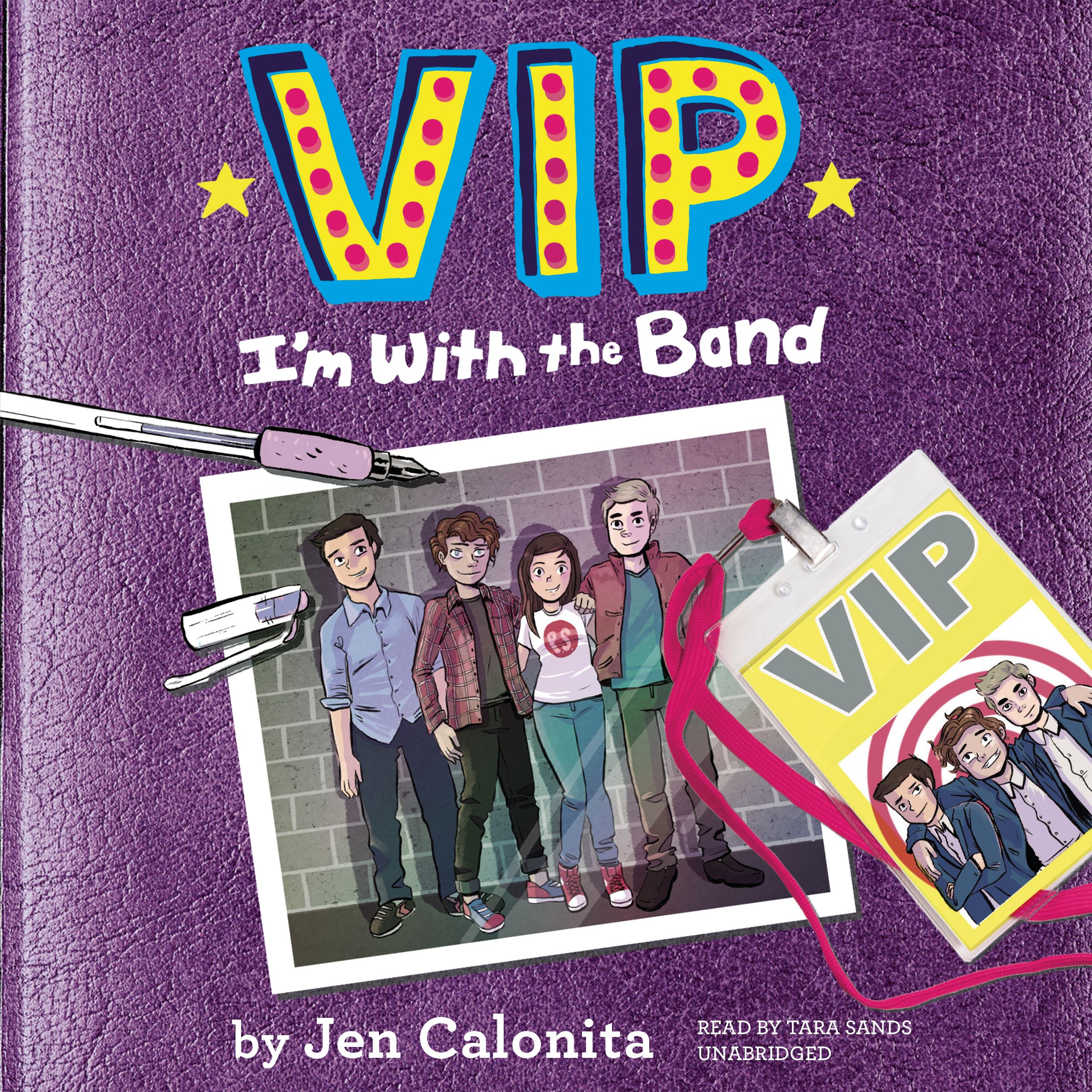 Printable VIP: I'm with the Band Audiobook Cover Art