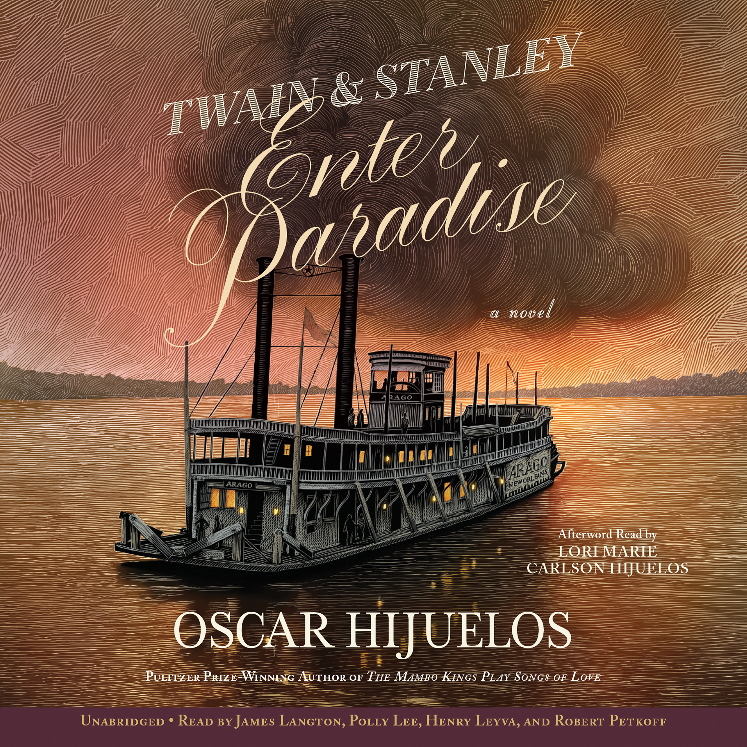 Printable Twain & Stanley Enter Paradise Audiobook Cover Art