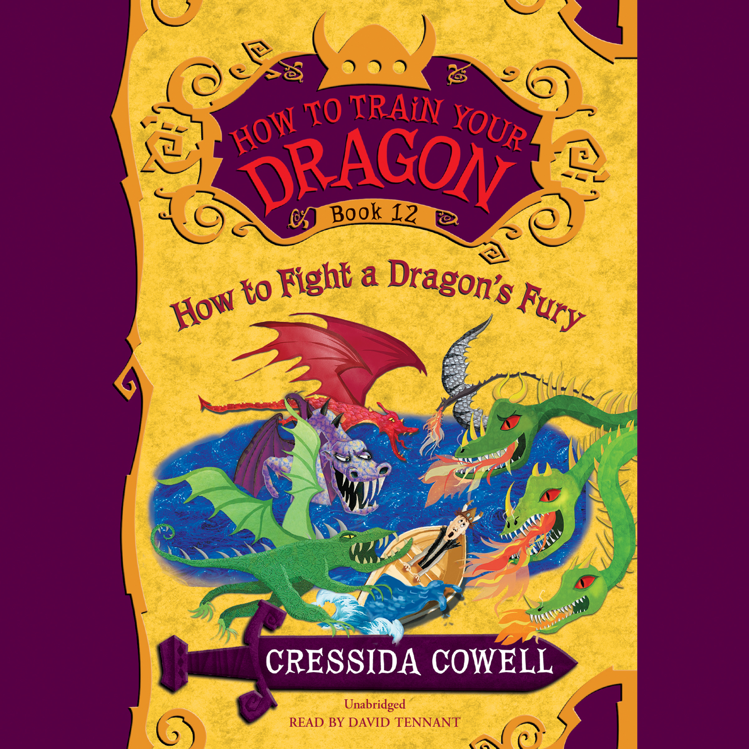 Printable How to Train Your Dragon:  How to Fight a Dragon's Fury Audiobook Cover Art