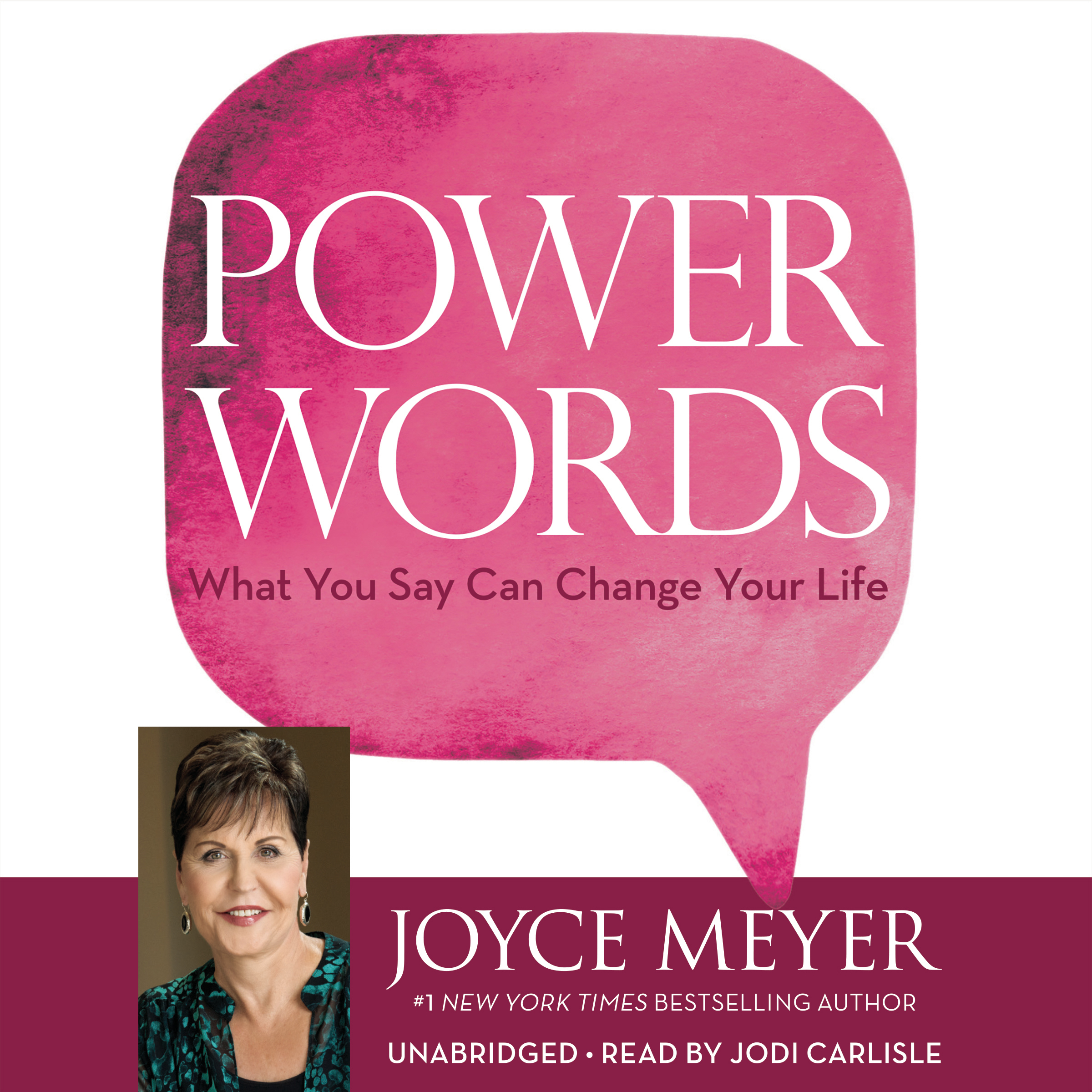 Printable Power Words: What You Say Can Change Your Life Audiobook Cover Art
