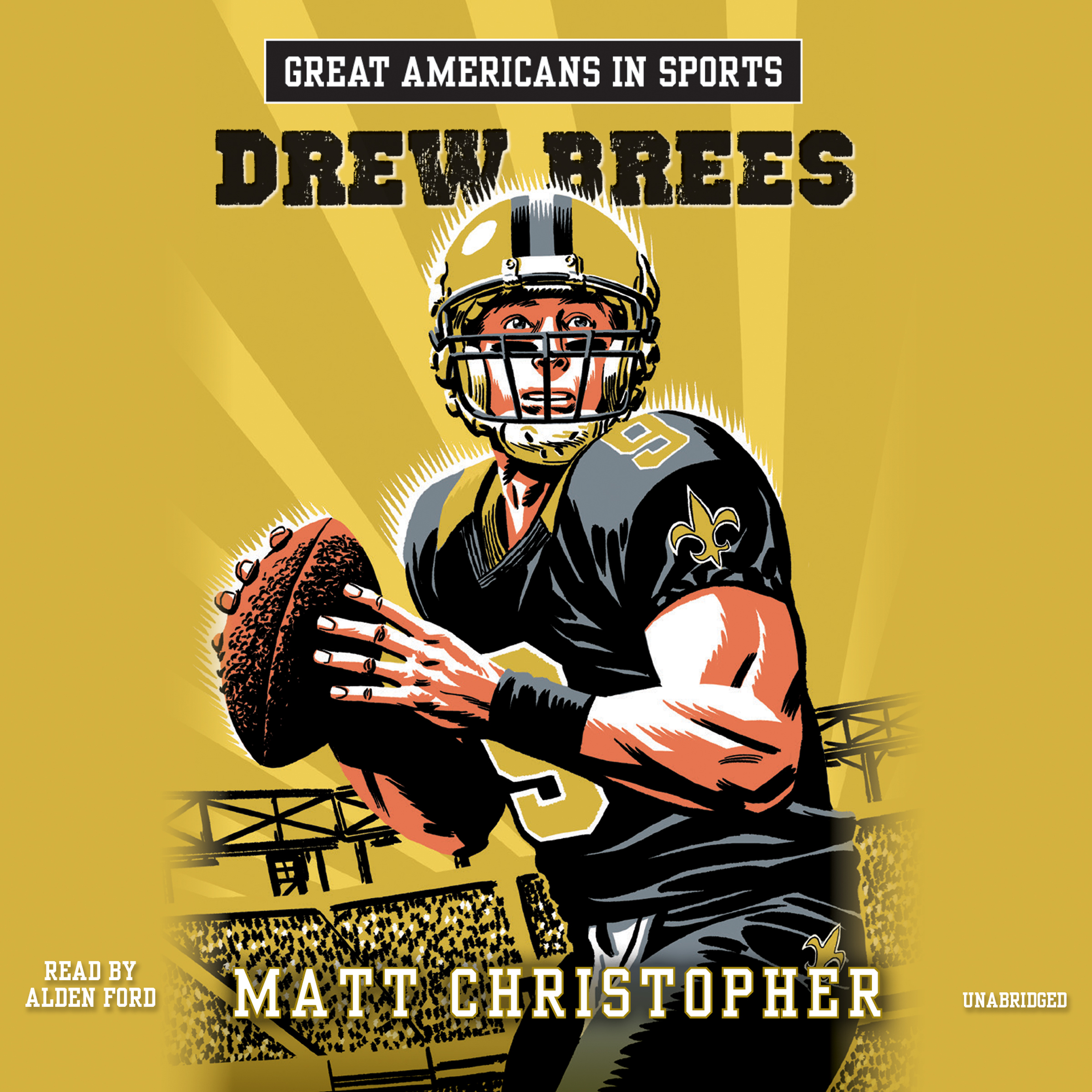 Printable Great Americans in Sports: Drew Brees Audiobook Cover Art