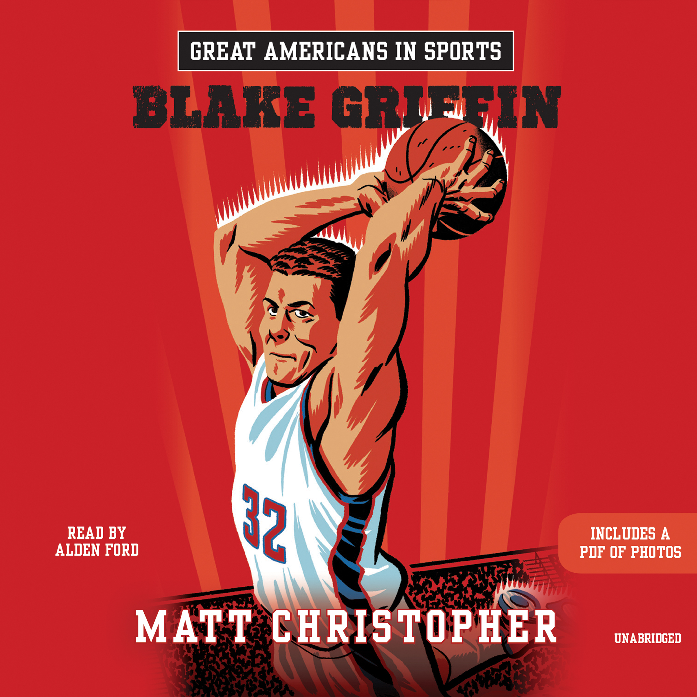 Printable Great Americans in Sports: Blake Griffin Audiobook Cover Art