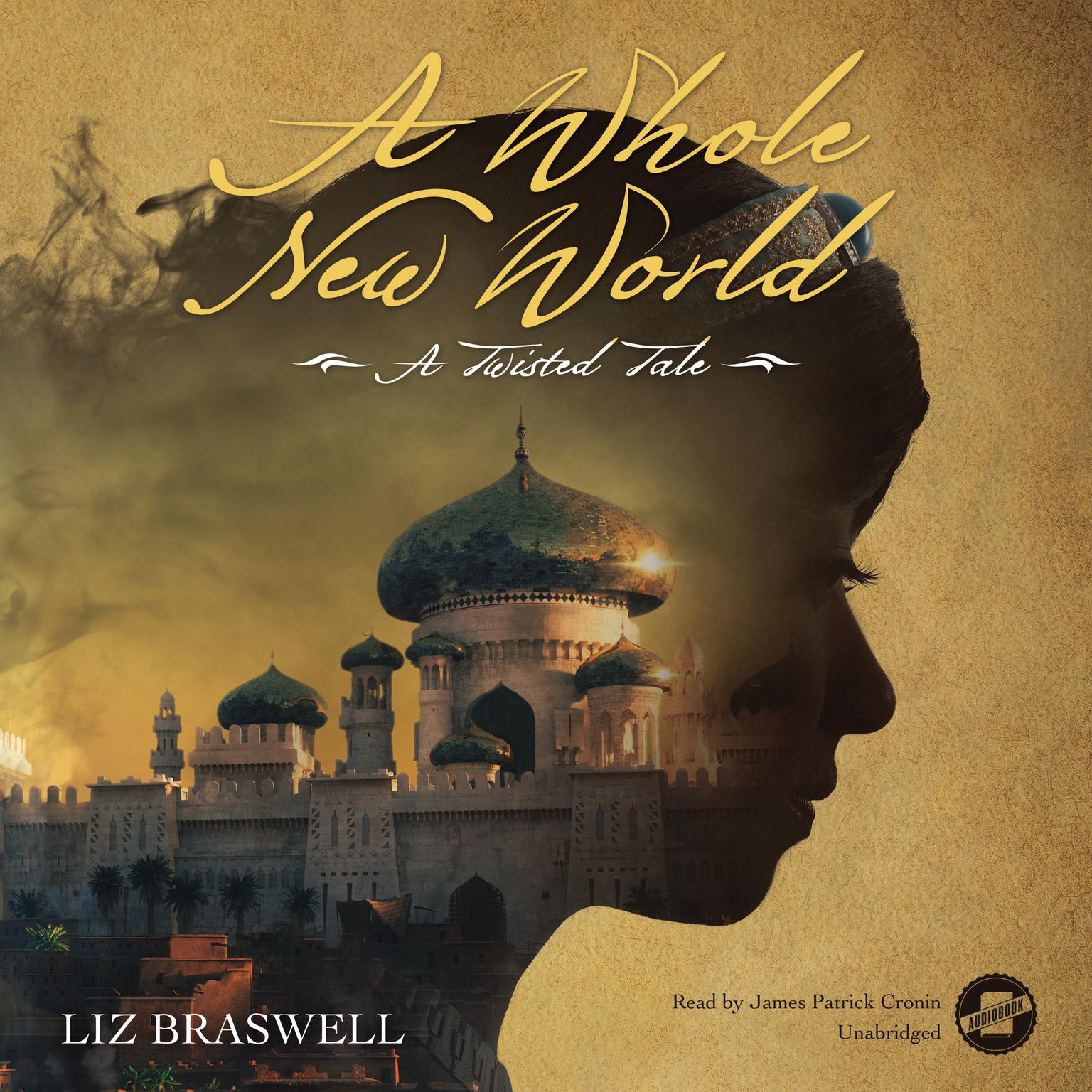 Printable A Whole New World: A Twisted Tale Audiobook Cover Art