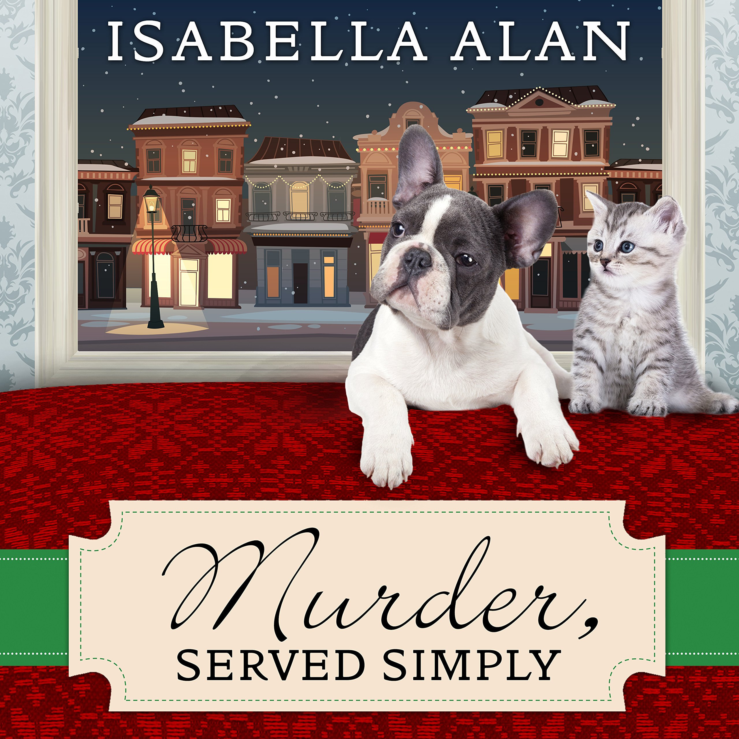 Printable Murder, Served Simply: An Amish Quilt Shop Mystery Audiobook Cover Art