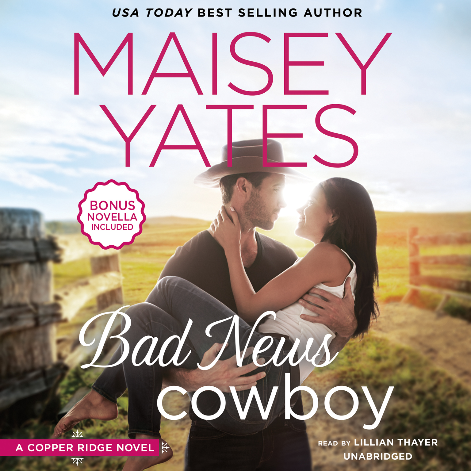 Printable Bad News Cowboy Audiobook Cover Art