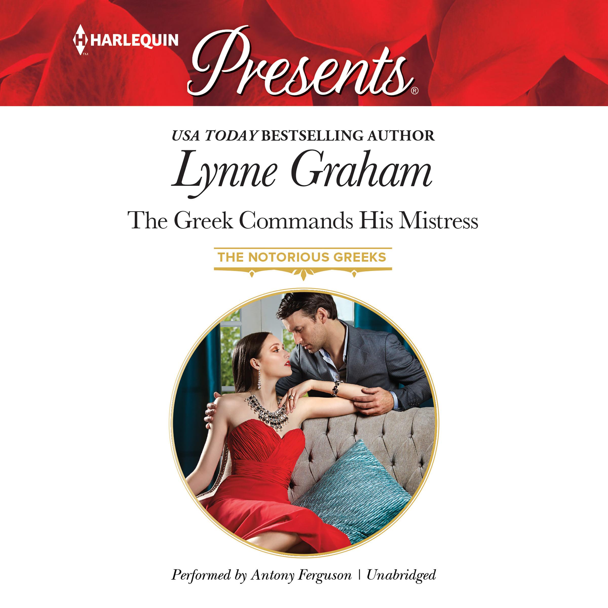 Printable The Greek Commands His Mistress Audiobook Cover Art