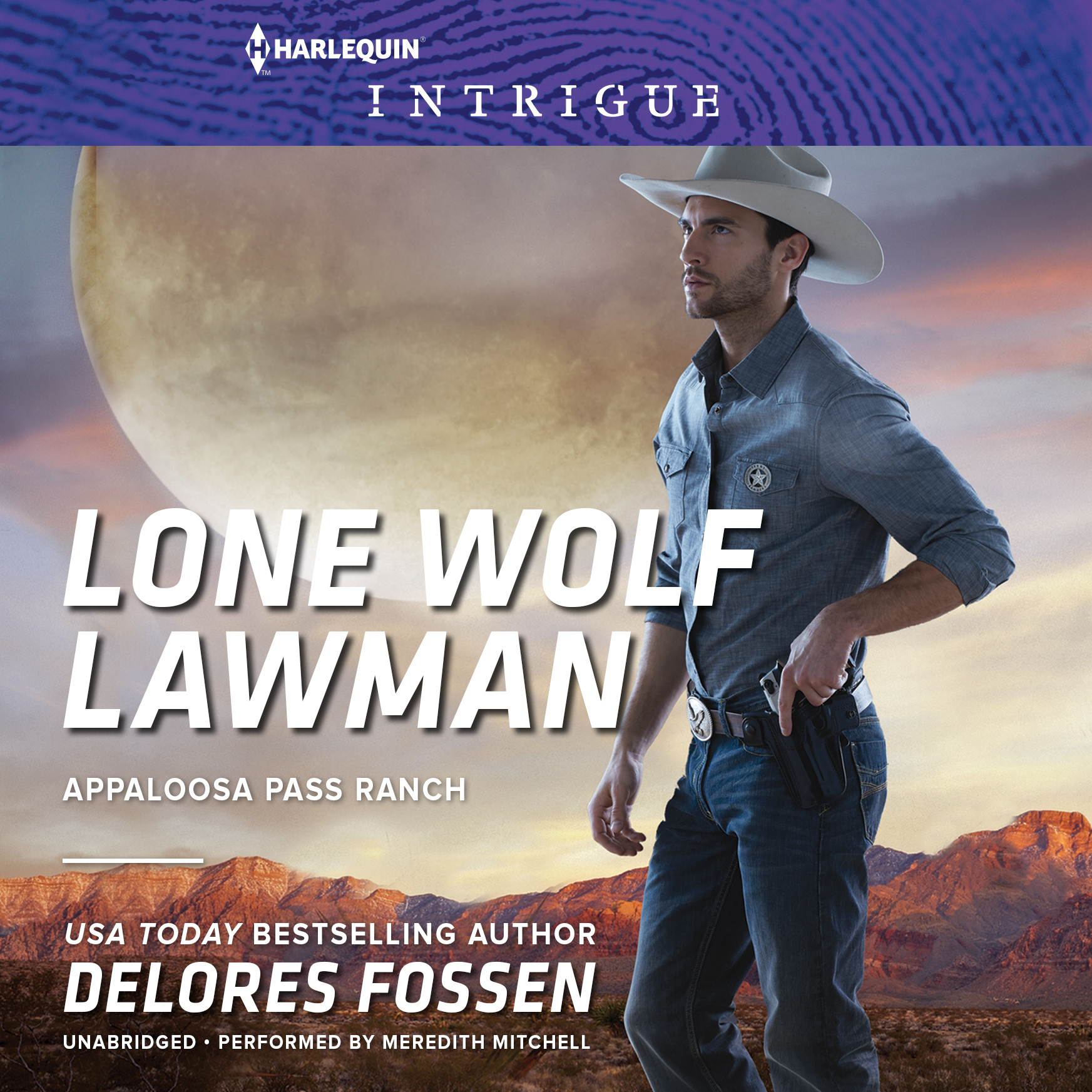 Printable Lone Wolf Lawman Audiobook Cover Art