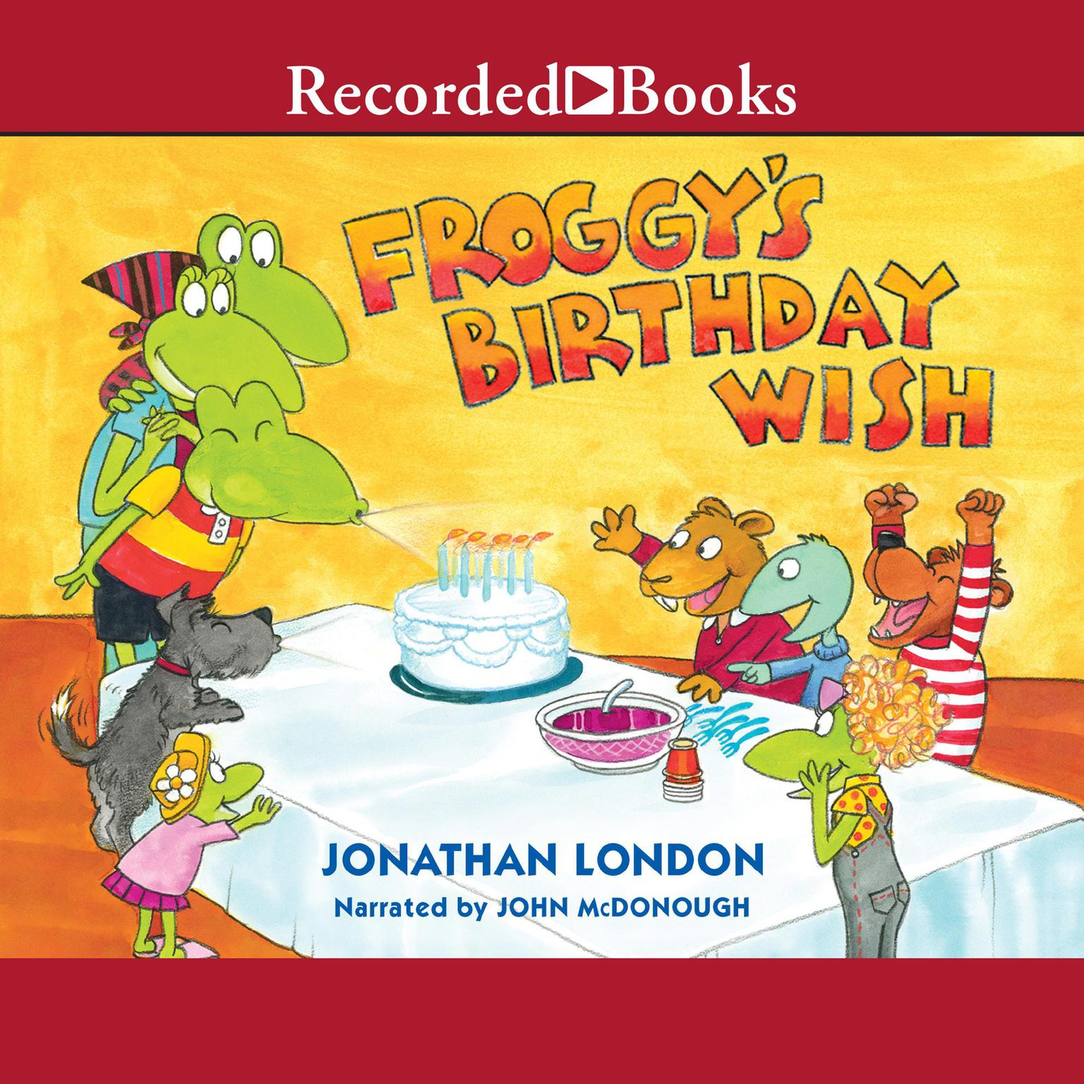 Printable Froggy's Birthday Wish Audiobook Cover Art