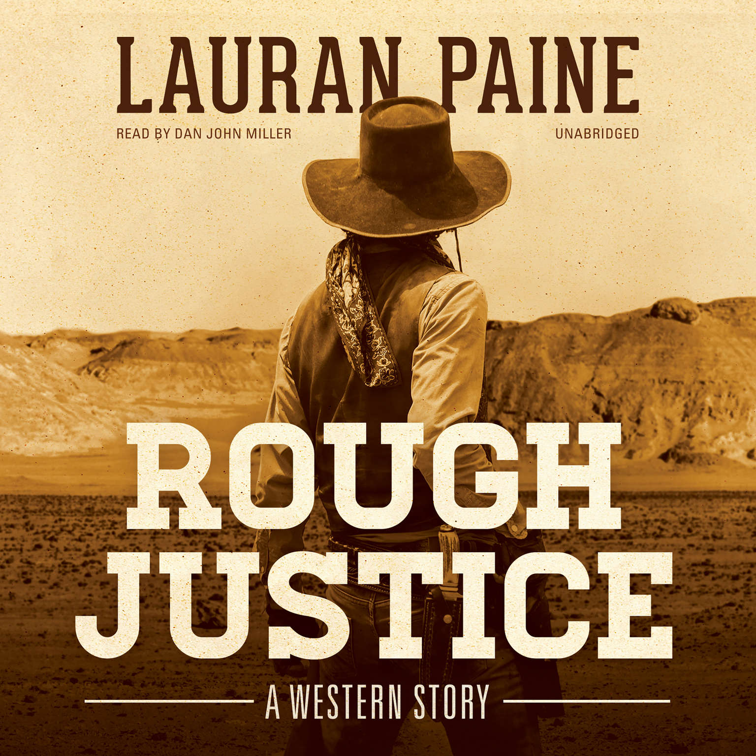 Printable Rough Justice: A Western Story Audiobook Cover Art