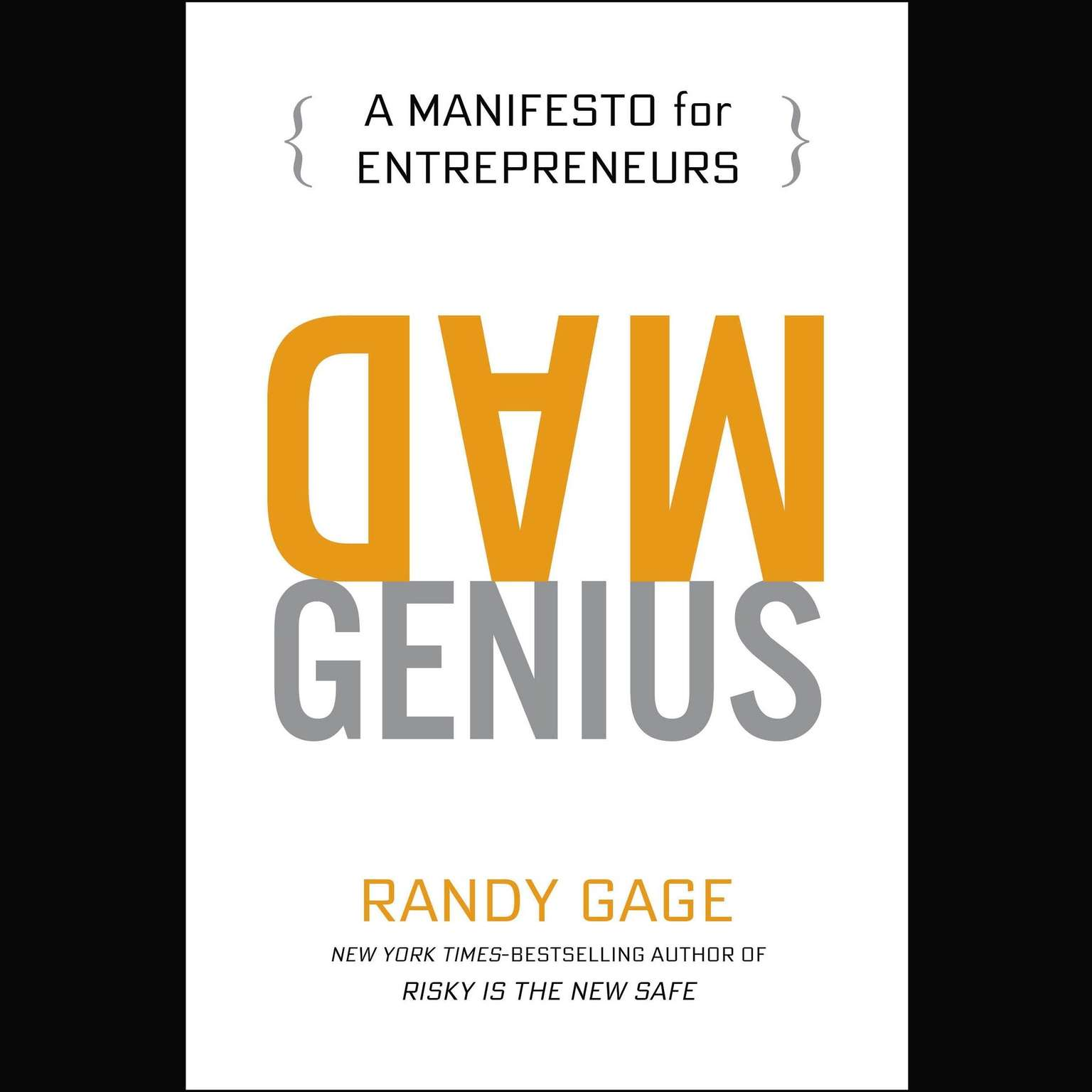 Printable Mad Genius: A Manifesto for Entrepreneurs Audiobook Cover Art