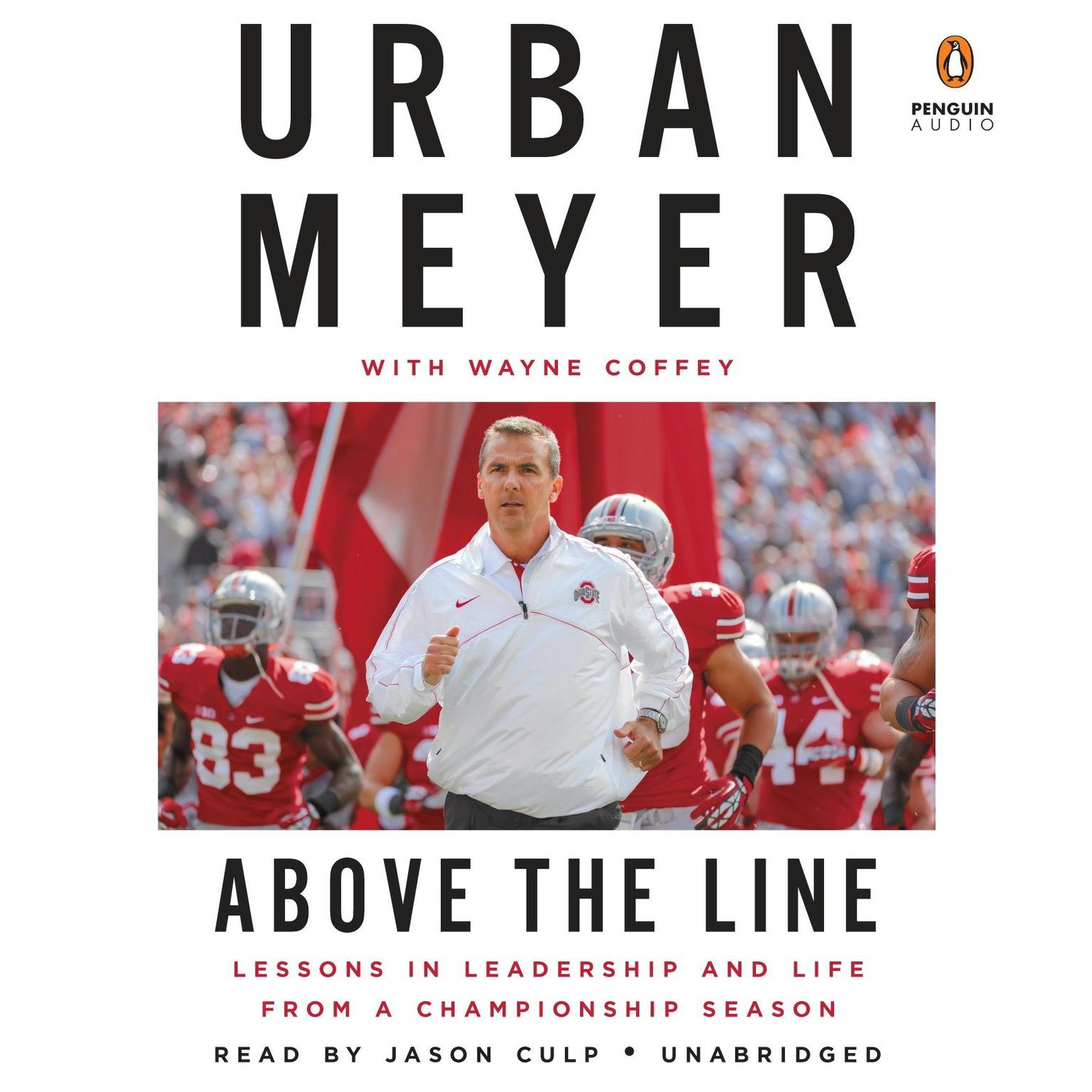 Printable Above the Line: Lessons in Leadership and Life from a Championship Season Audiobook Cover Art