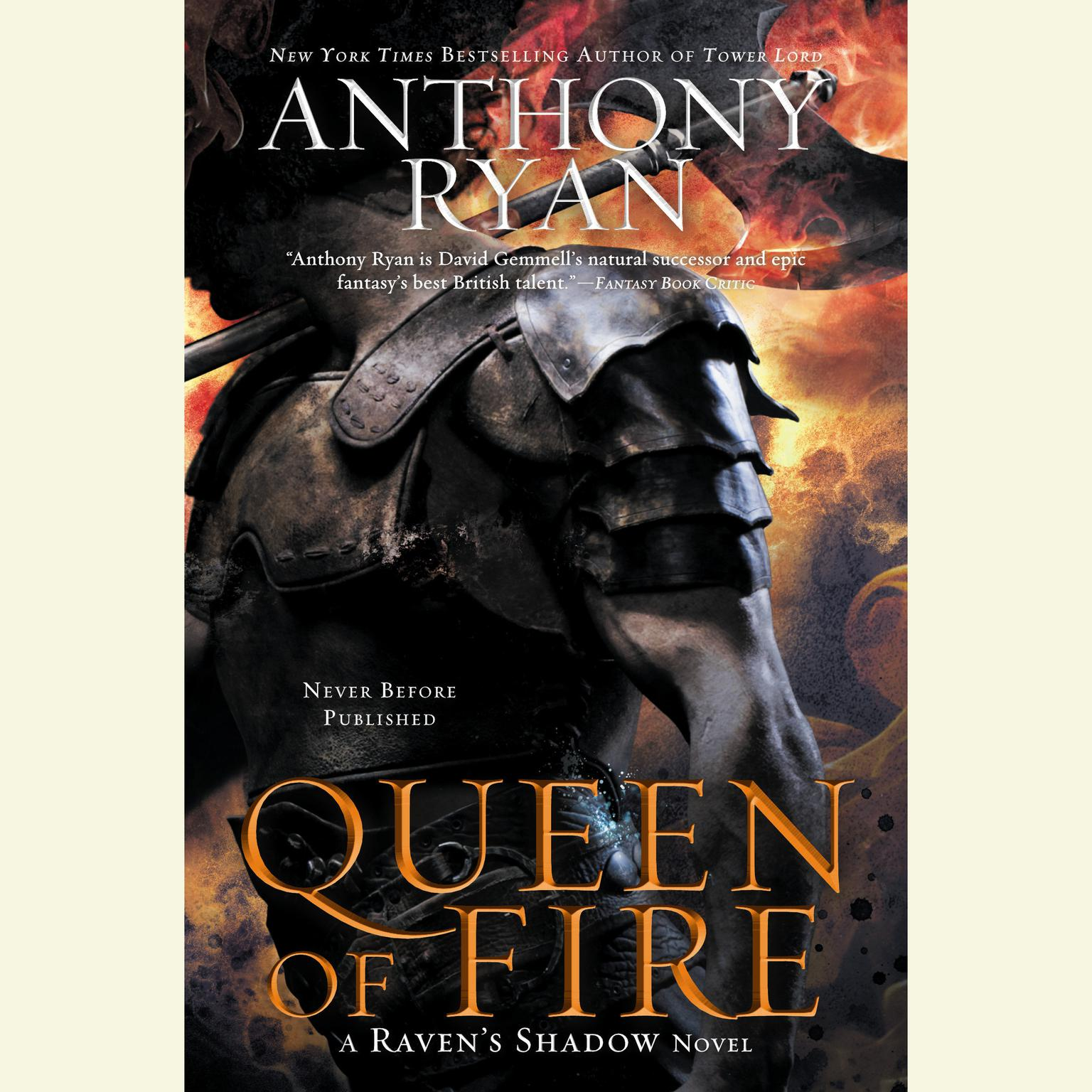 Printable Queen of Fire: A Raven's Shadow Novel Audiobook Cover Art