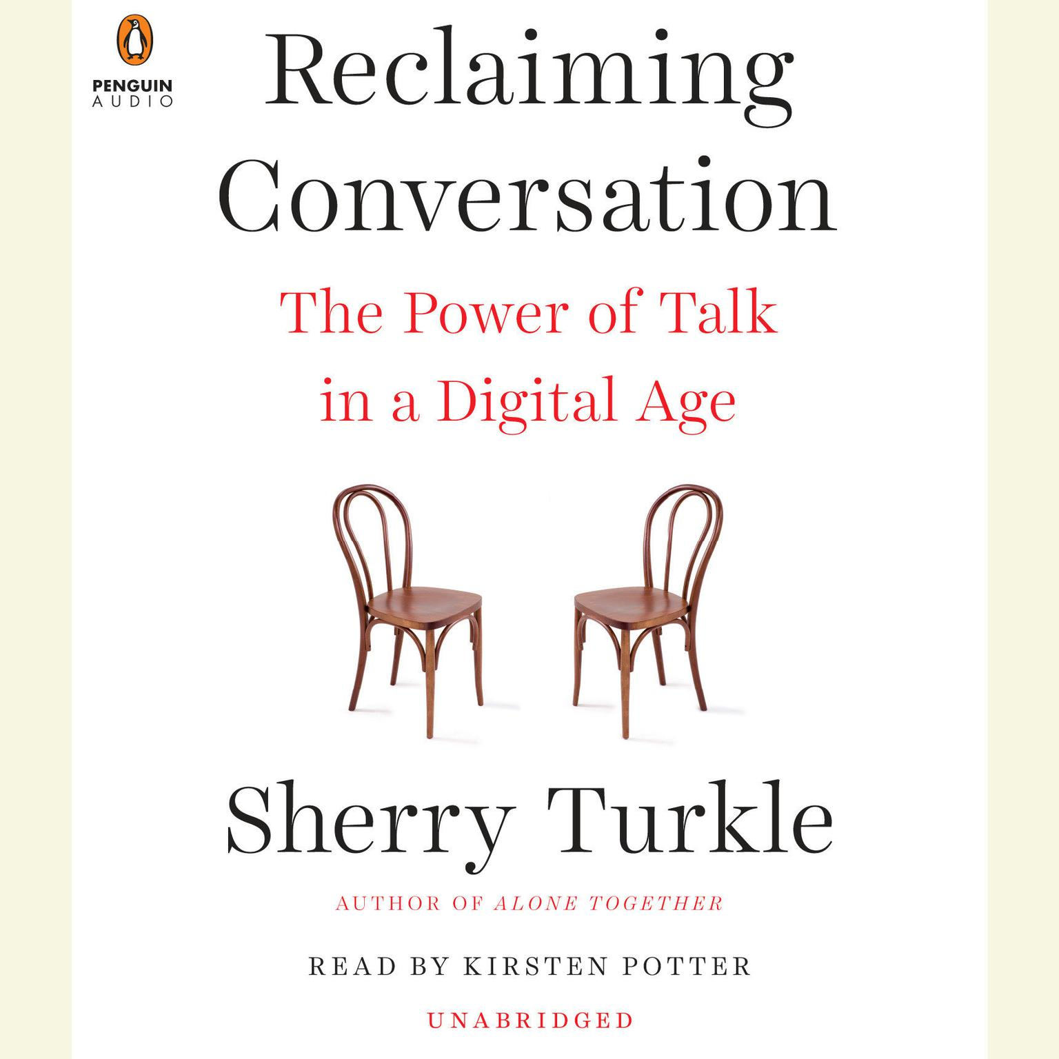 Printable Reclaiming Conversation: The Power of Talk in a Digital Age Audiobook Cover Art