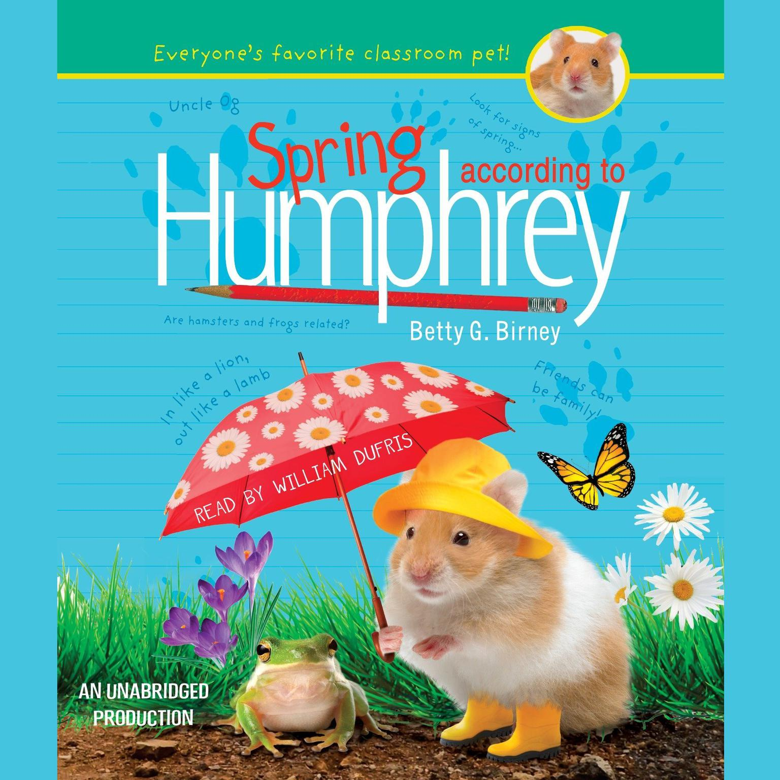 Printable Spring According to Humphrey Audiobook Cover Art