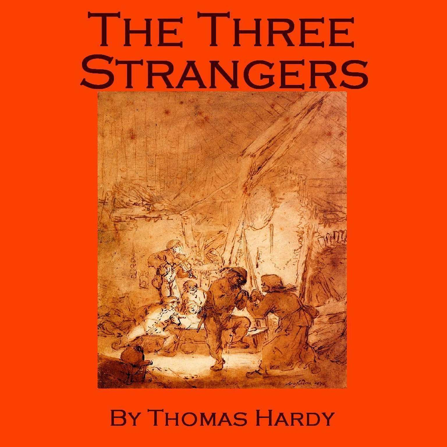 Printable The Three Strangers Audiobook Cover Art