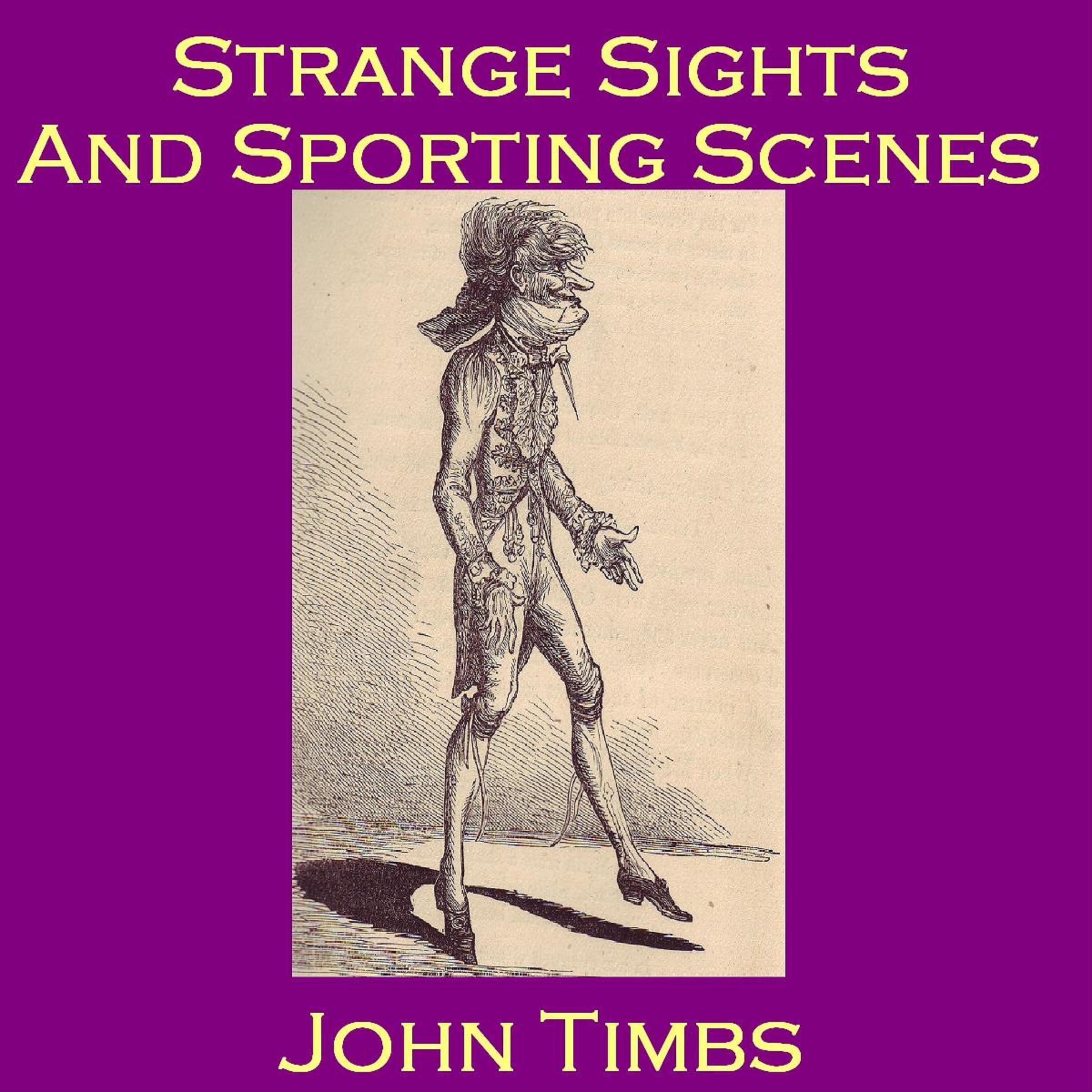 Printable Strange Sights and Sporting Scenes Audiobook Cover Art