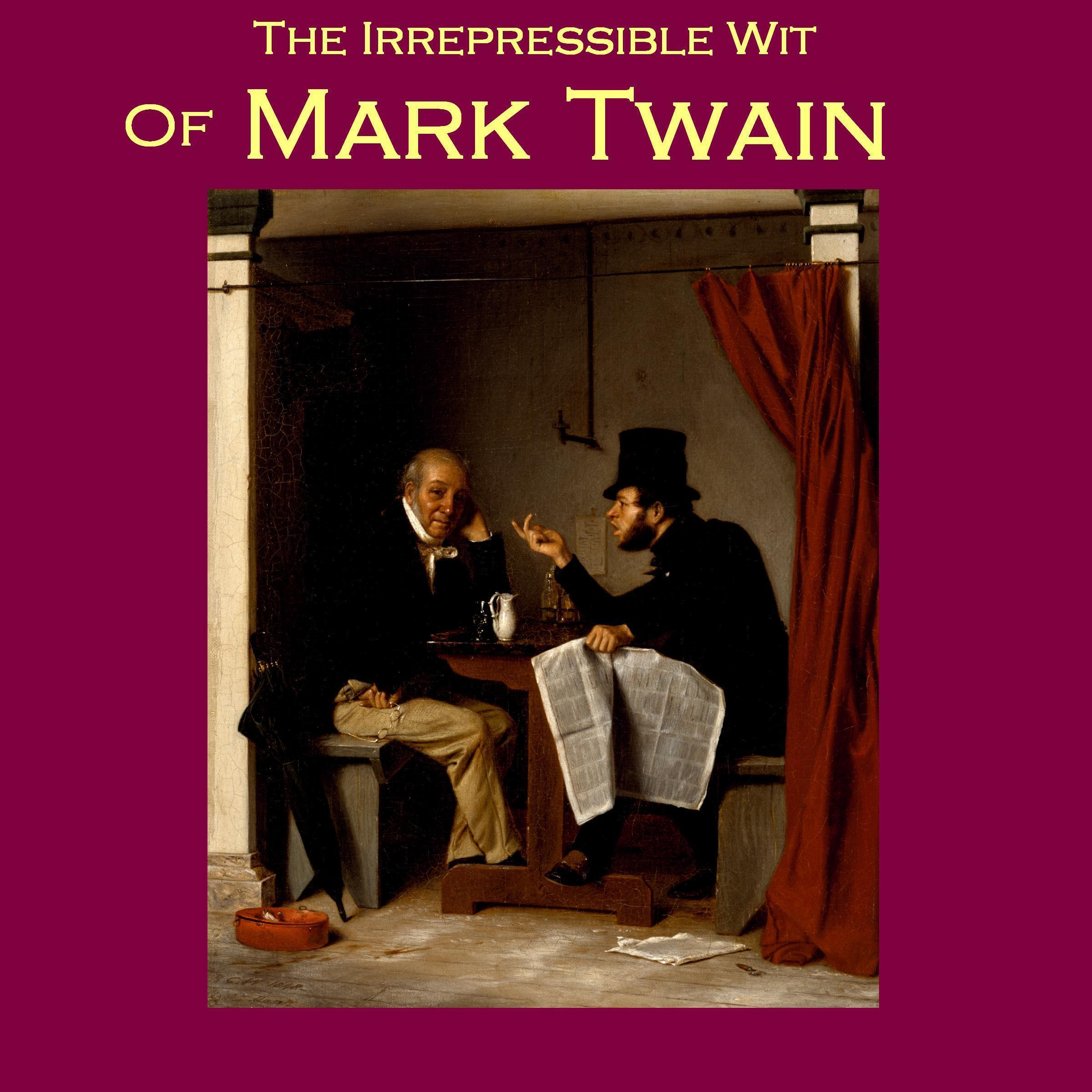 Printable The Irrepressible Wit of Mark Twain Audiobook Cover Art