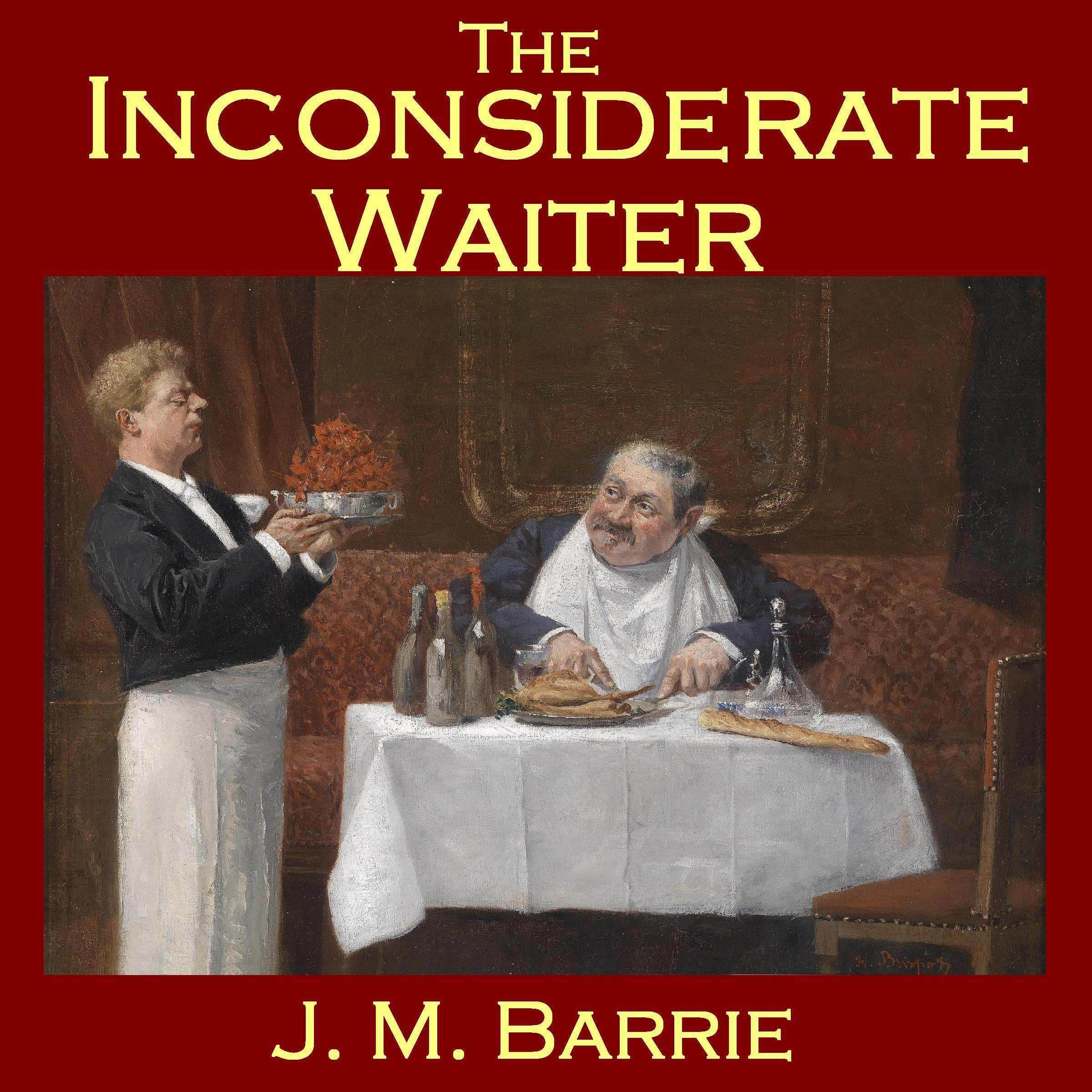 Printable The Inconsiderate Waiter Audiobook Cover Art
