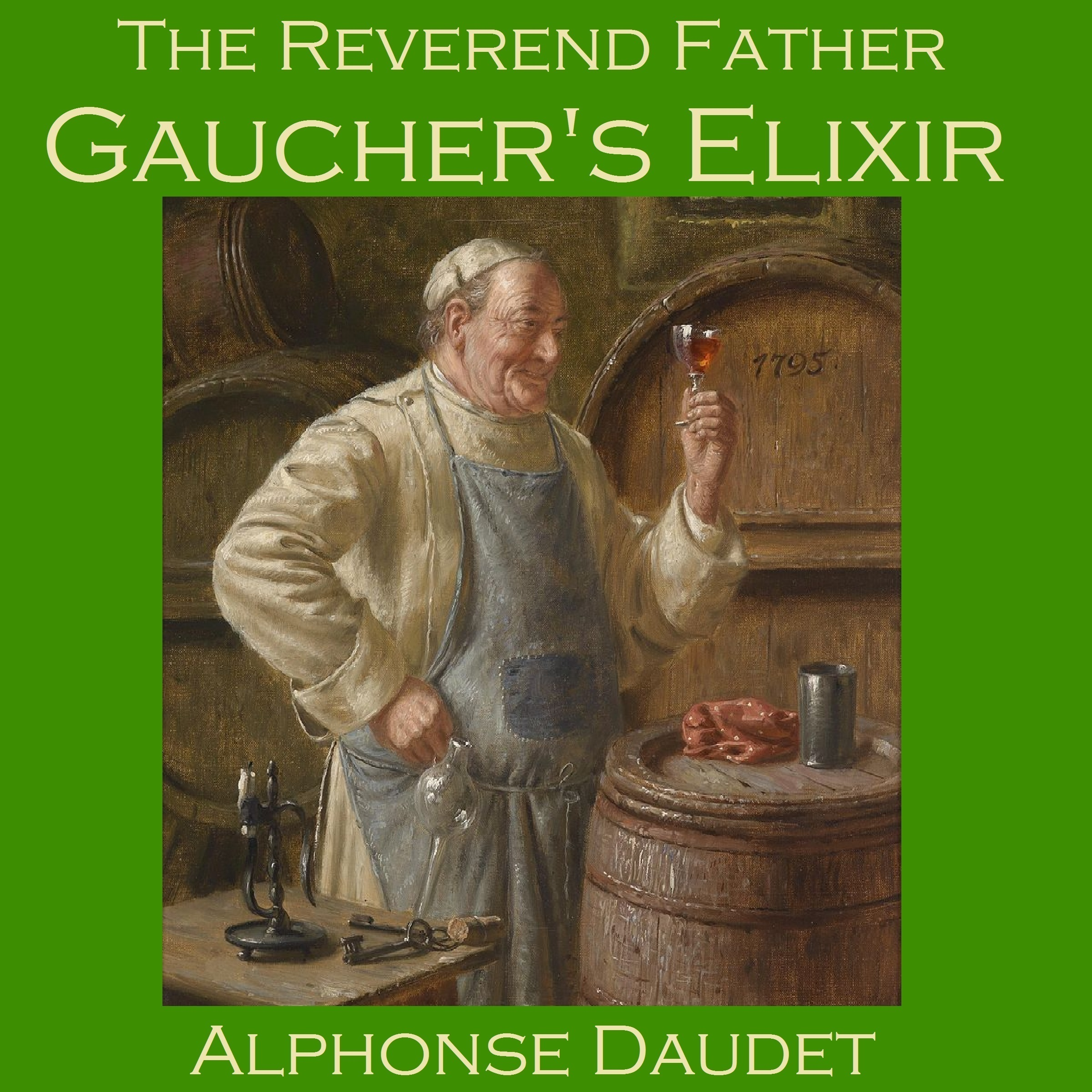 Printable The Reverend Father Gaucher's Elixir Audiobook Cover Art