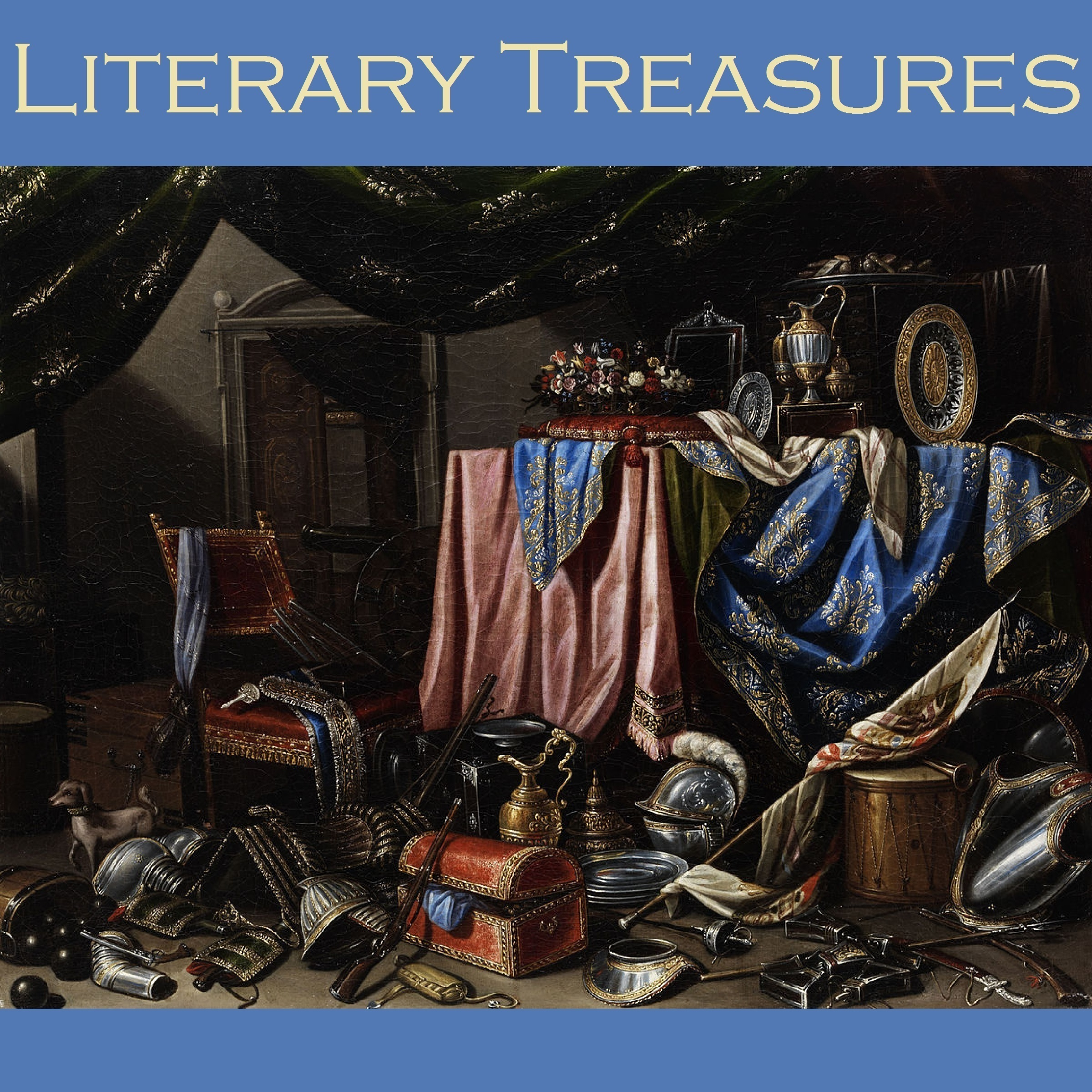 Printable Literary Treasures: Great Stories by Acclaimed Writers Audiobook Cover Art